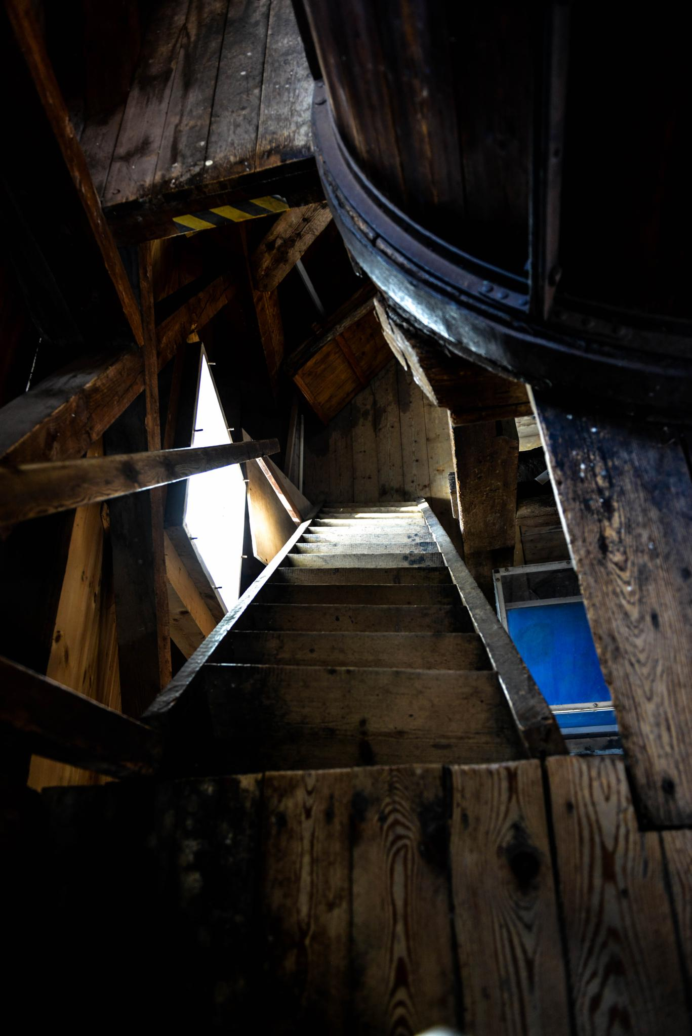 stair inside the mill by lars-goran6