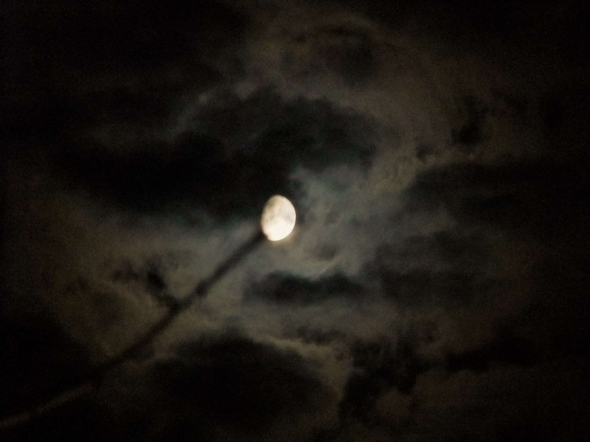 Clouds and Moon by Oliver Neumann