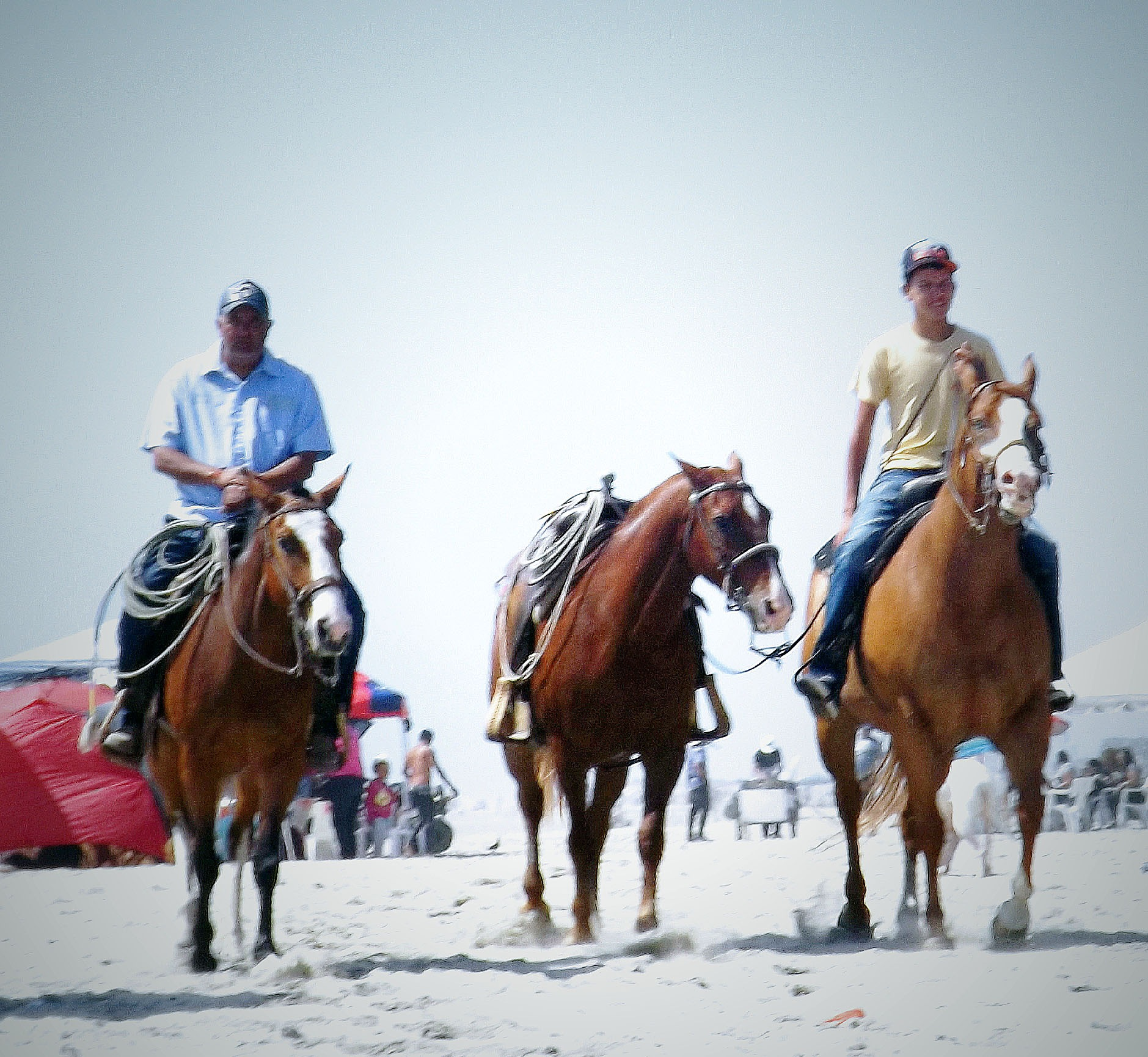 Riders on the beach  by Don