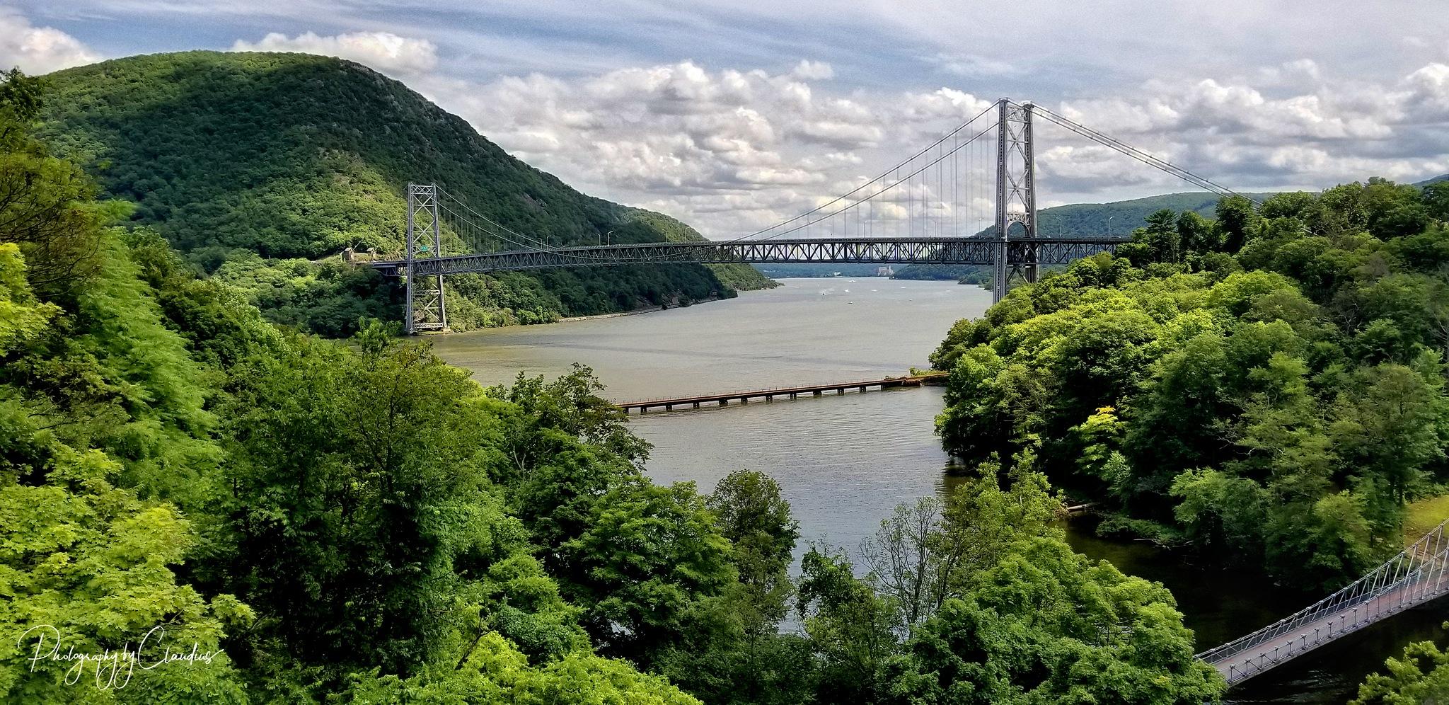 The Bear Mountain Bridge, Bear Mountain, NY by Claudius Cazan