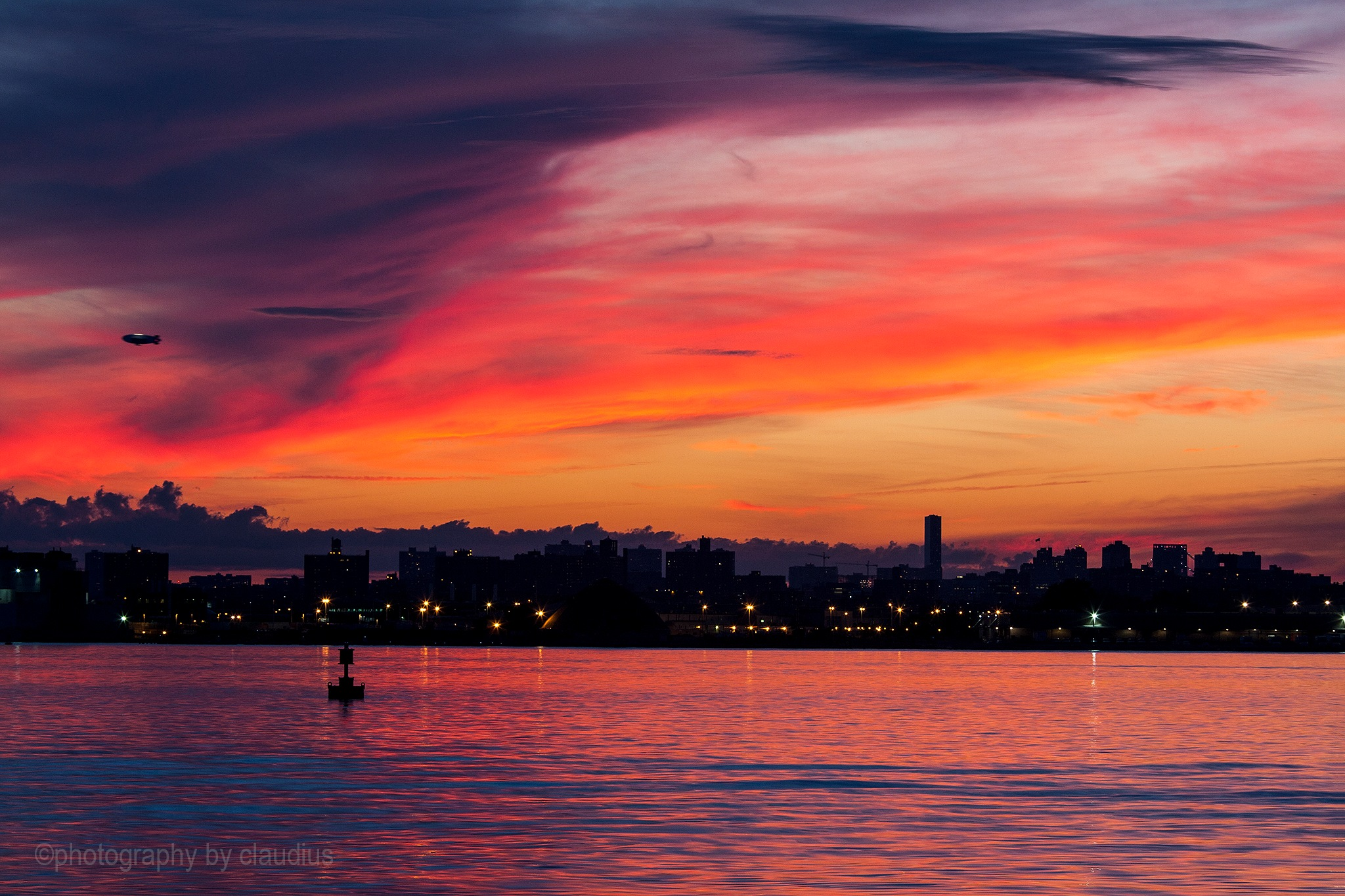 When the day leaves with a smile, the night is afire... by Claudius Cazan