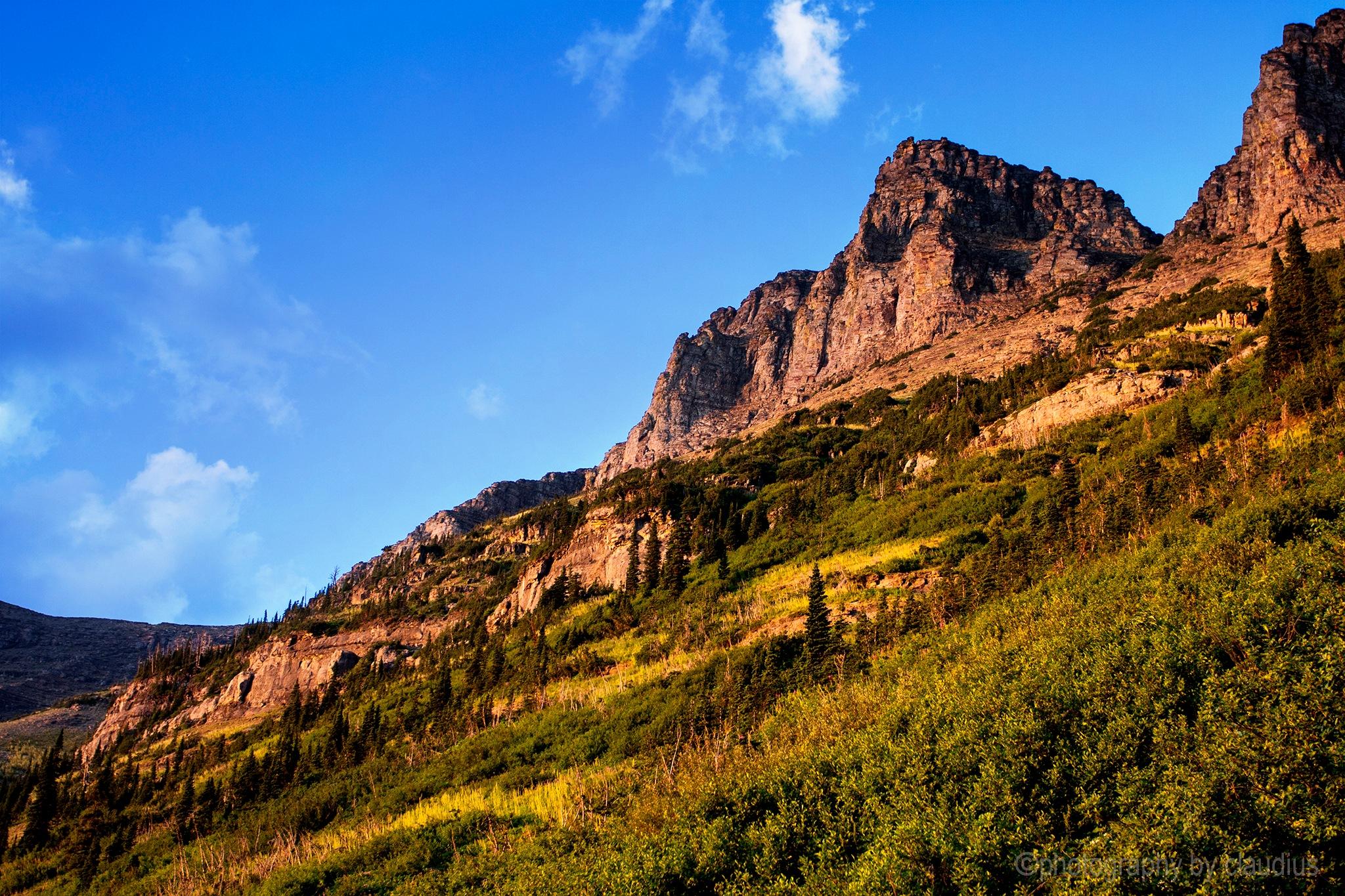 Mountains aglow... by Claudius Cazan