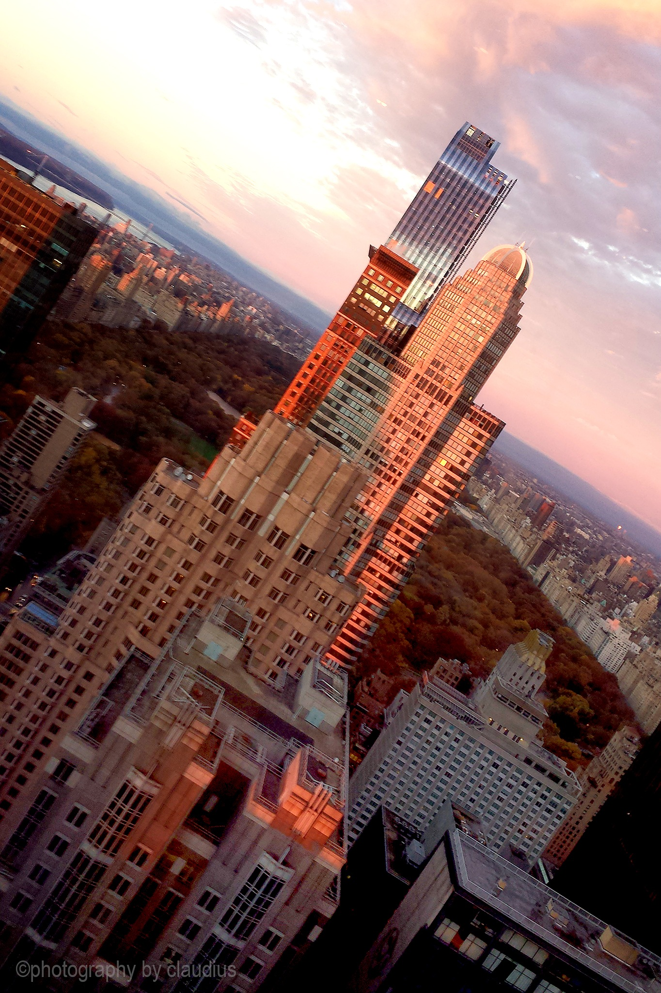 A high-rise sunset... by Claudius Cazan
