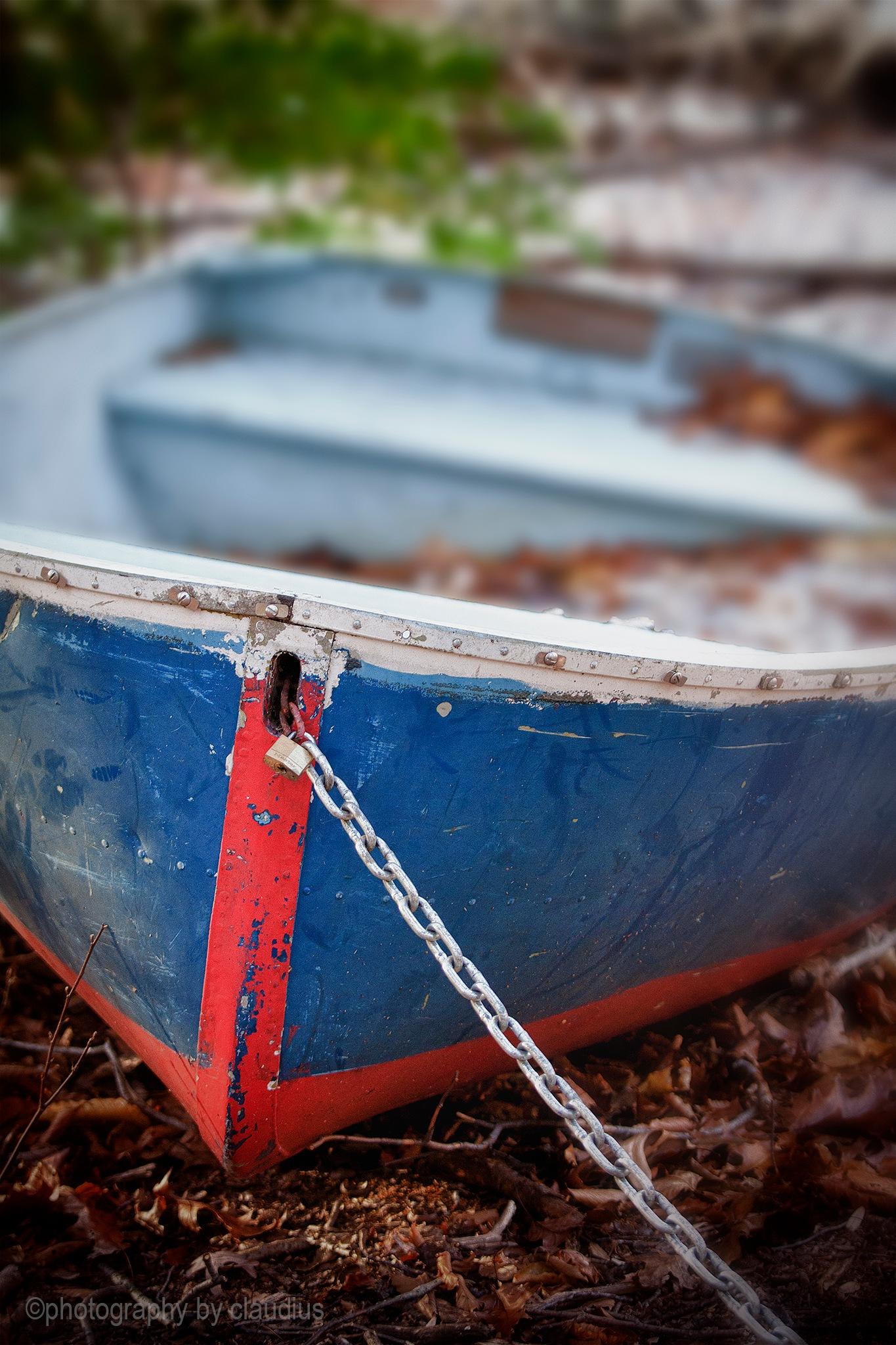 Autumn boat... by Claudius Cazan