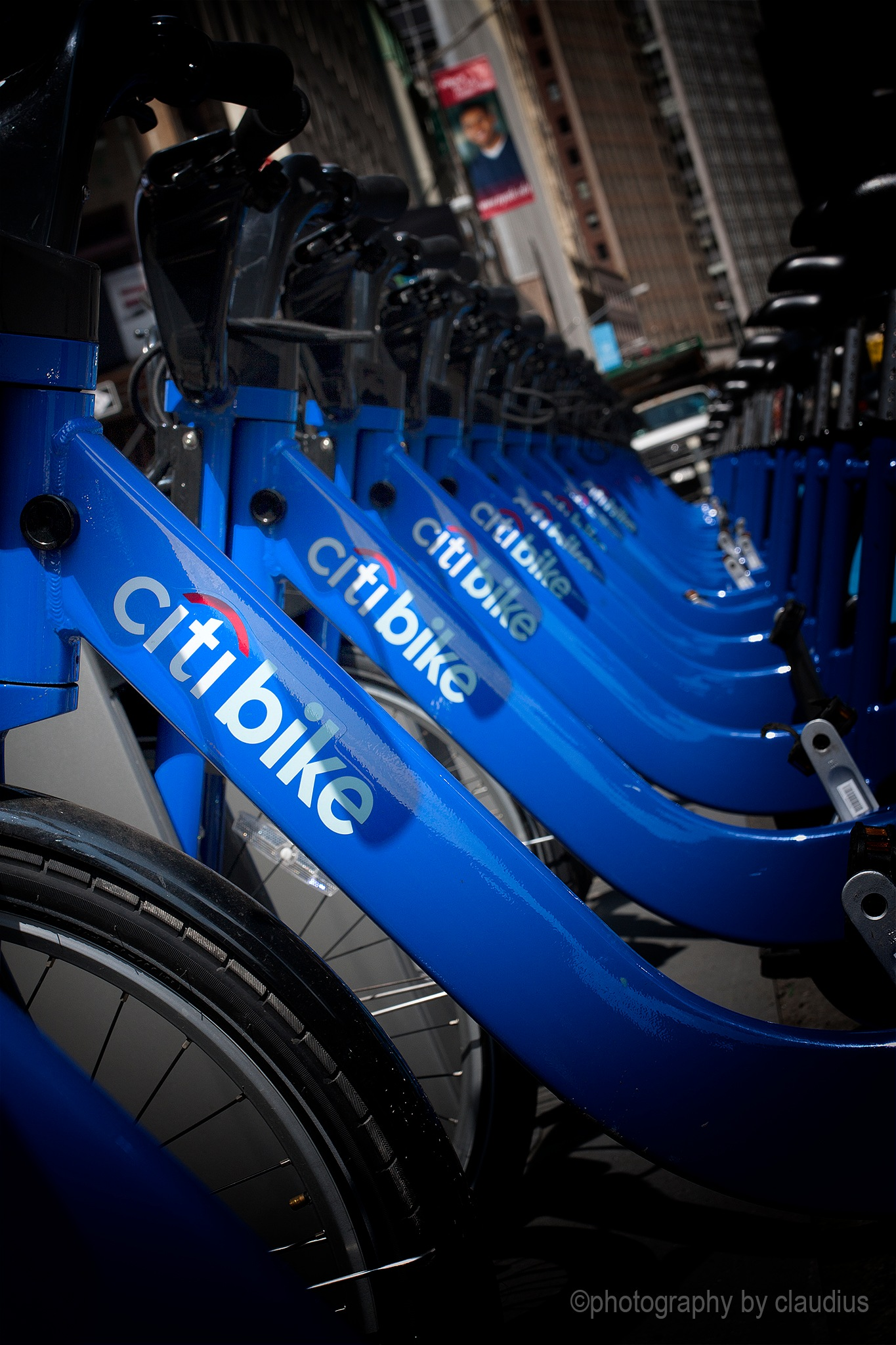A Citybike chorus line... by Claudius Cazan