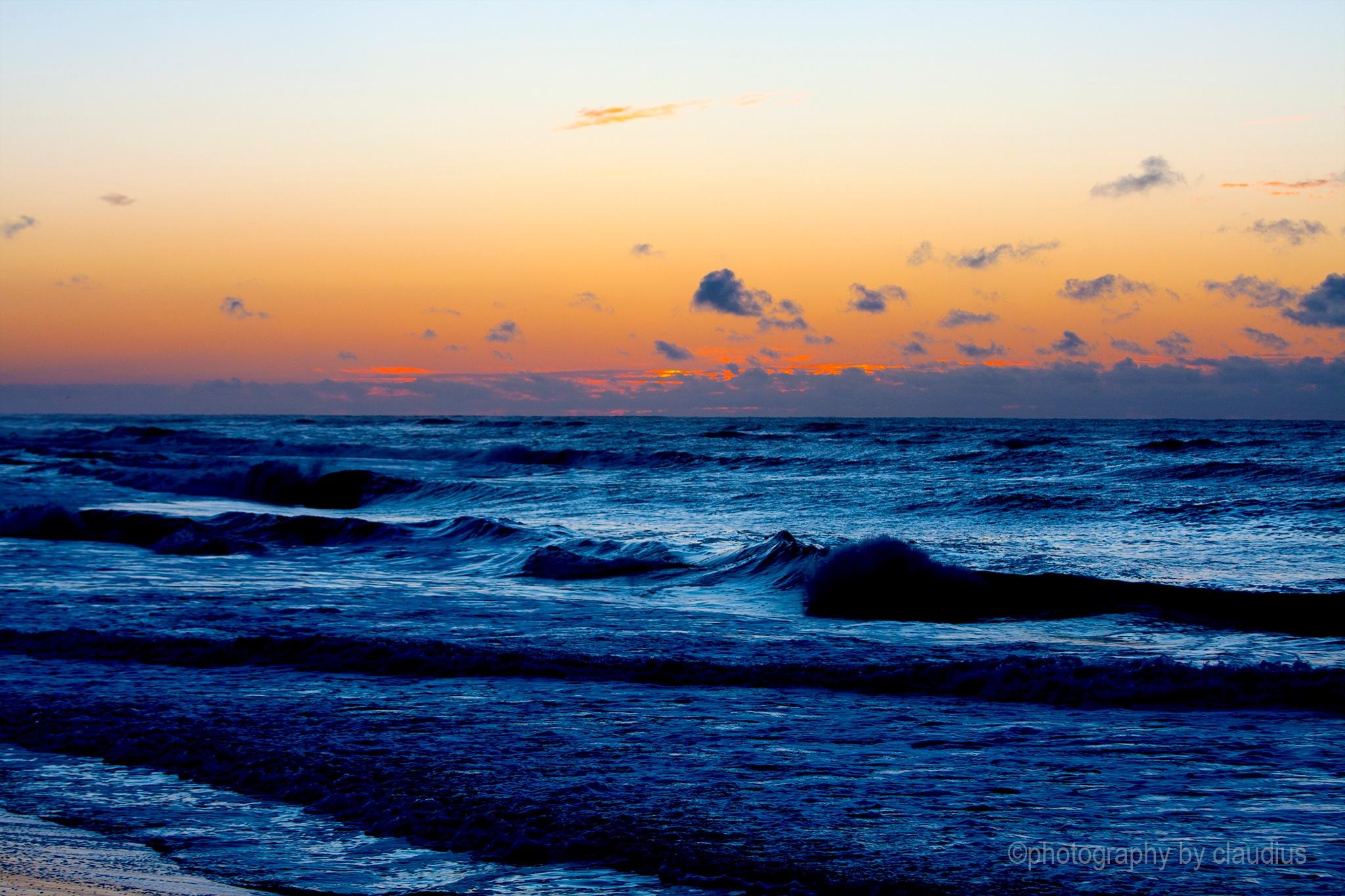Impetuous sea at sunrise... by Claudius Cazan