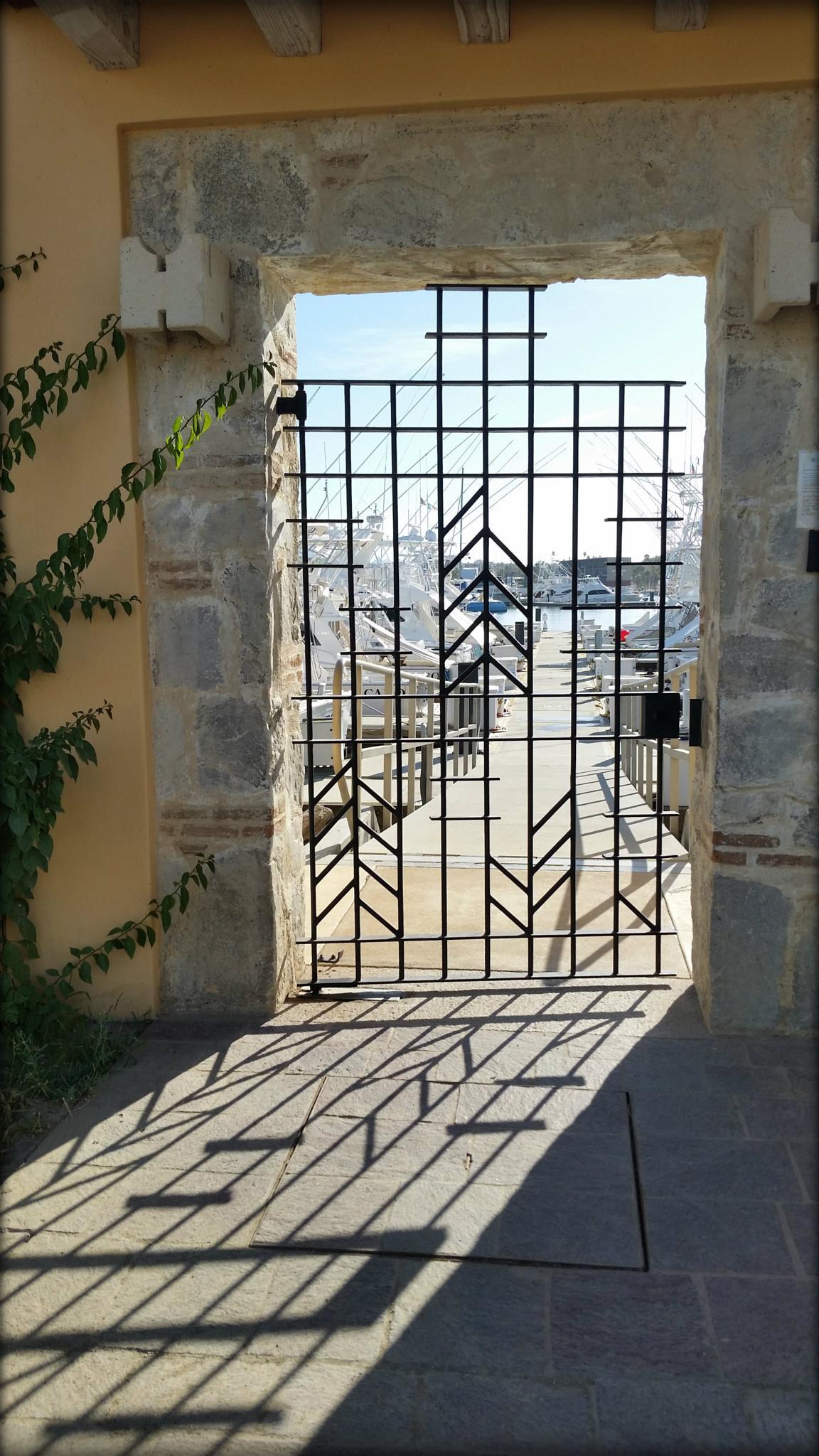 Marina gate, Cabo San Jose, Mexico. by Pam Lampe