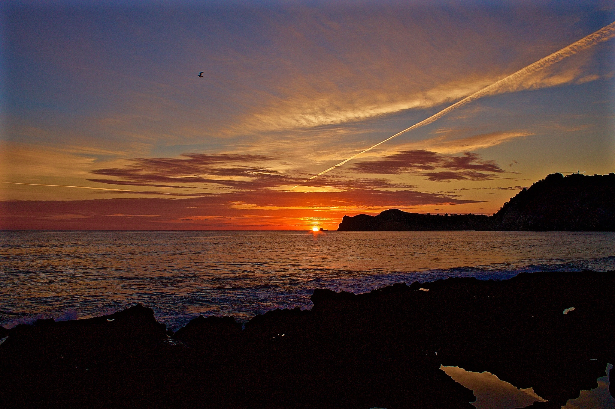 Sunrise in Jávea, Spain. by twogeckos