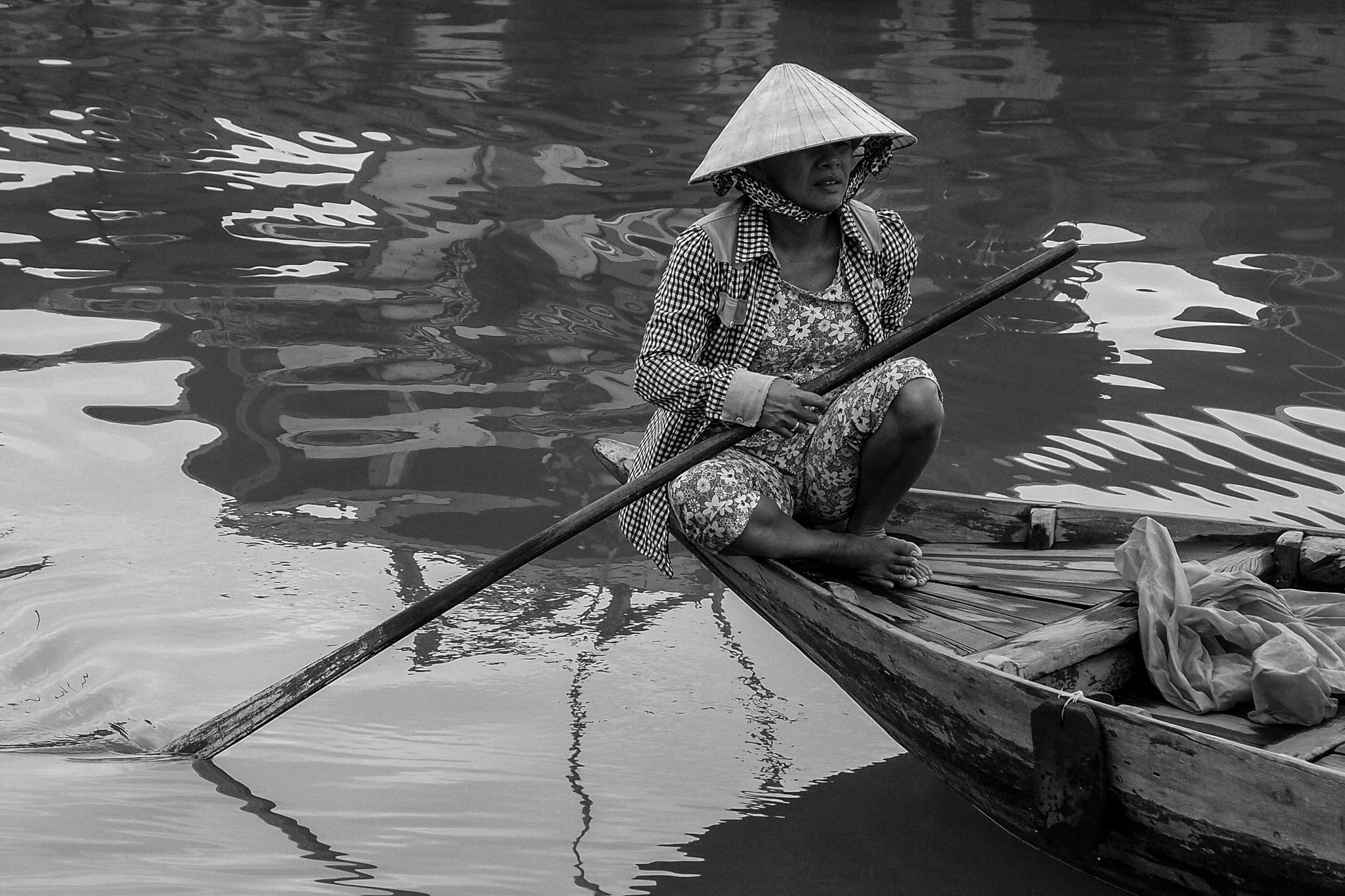 The vietnamese fishing woman by amelia bertmar