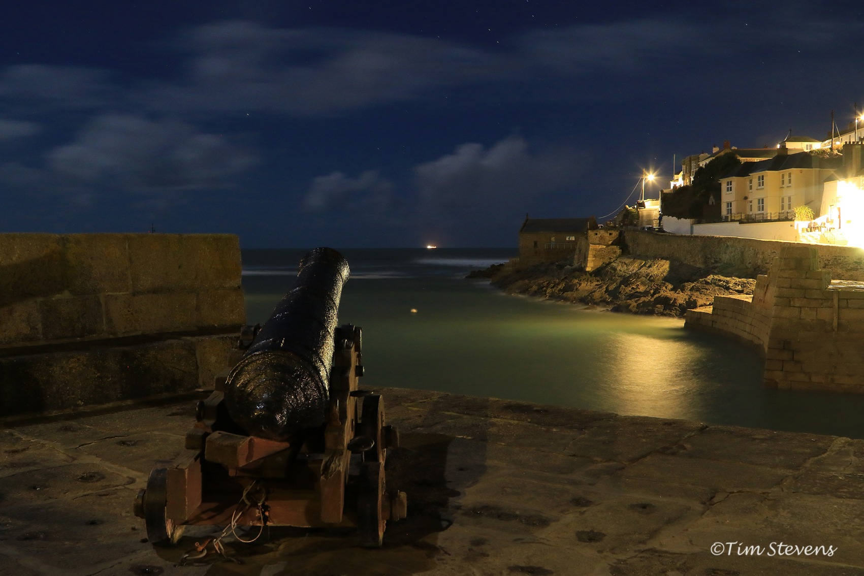 A February Evening in Porthleven  by Tim Stevens