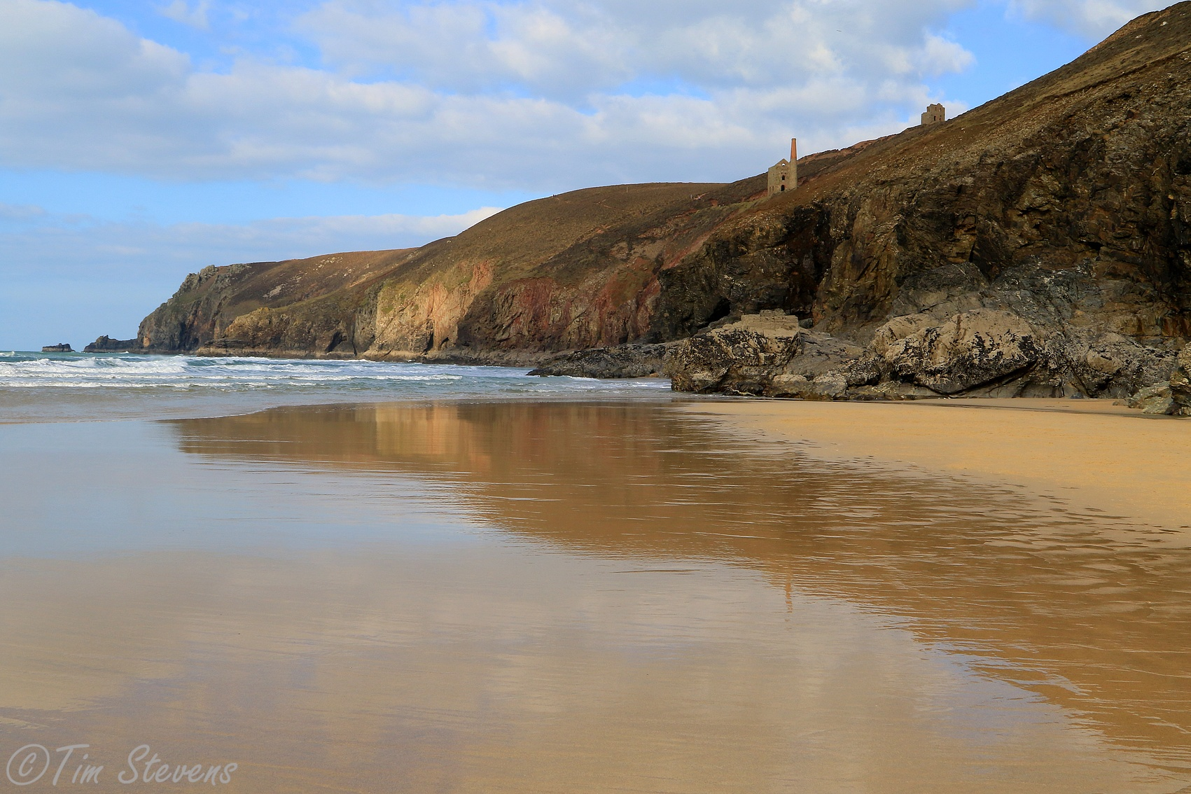 Chapel Porth Reflections by Tim Stevens