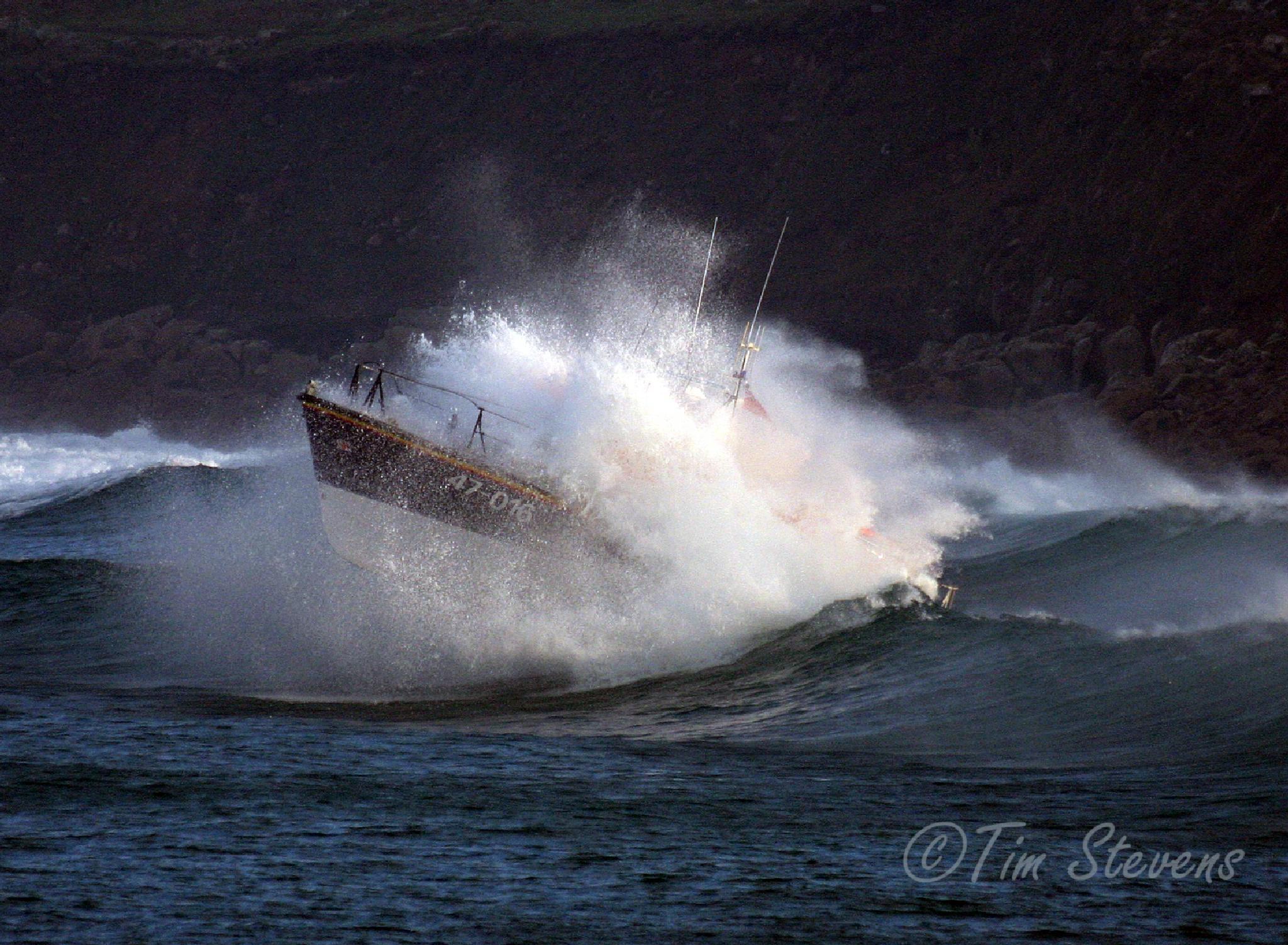 Sennen Cove Lifeboat ' Norman Salvesen' by Tim Stevens