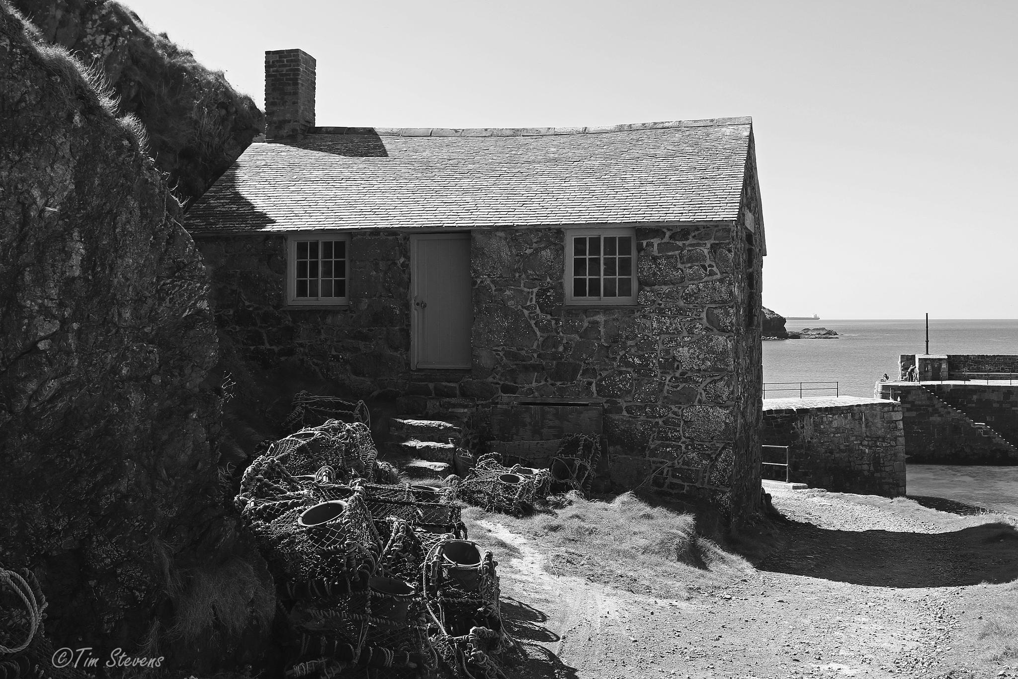 Photo in Landscape #canon #eos #7d mark ii #cornwall #mullion #b&w #cottage