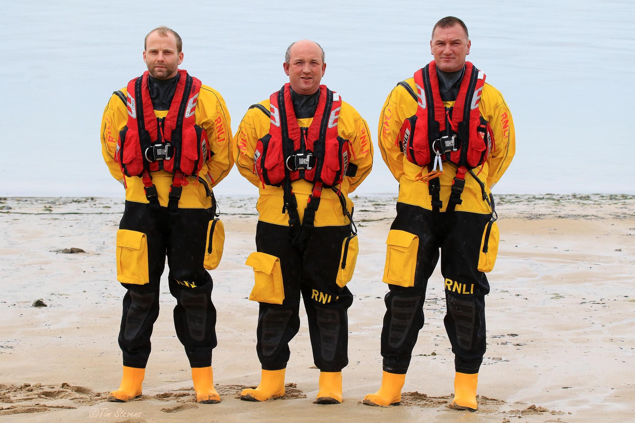 Rock Inshore Lifeboat Crew by Tim Stevens