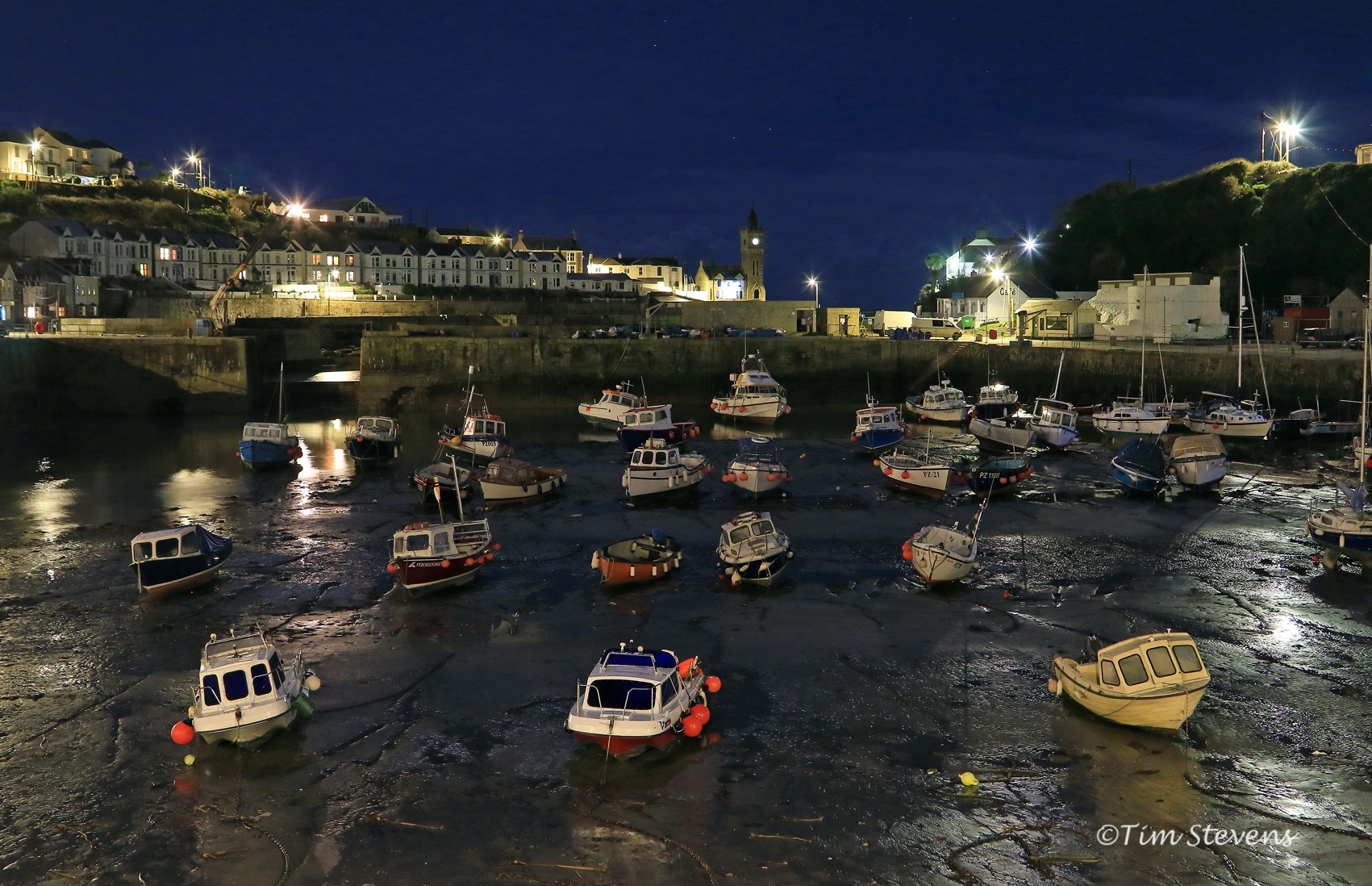Porthleven Harbour by Tim Stevens