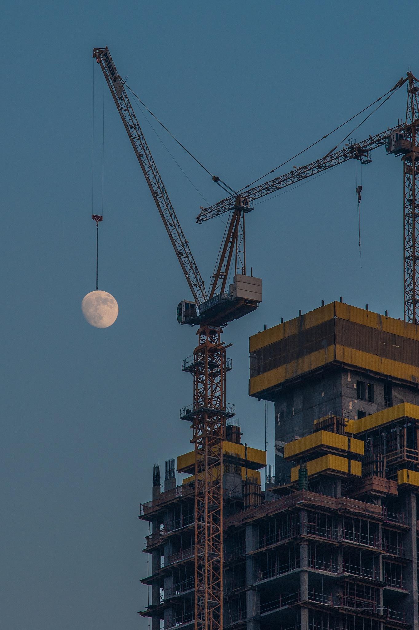 New Moon preparation is in progress. by Babar Swaleheen