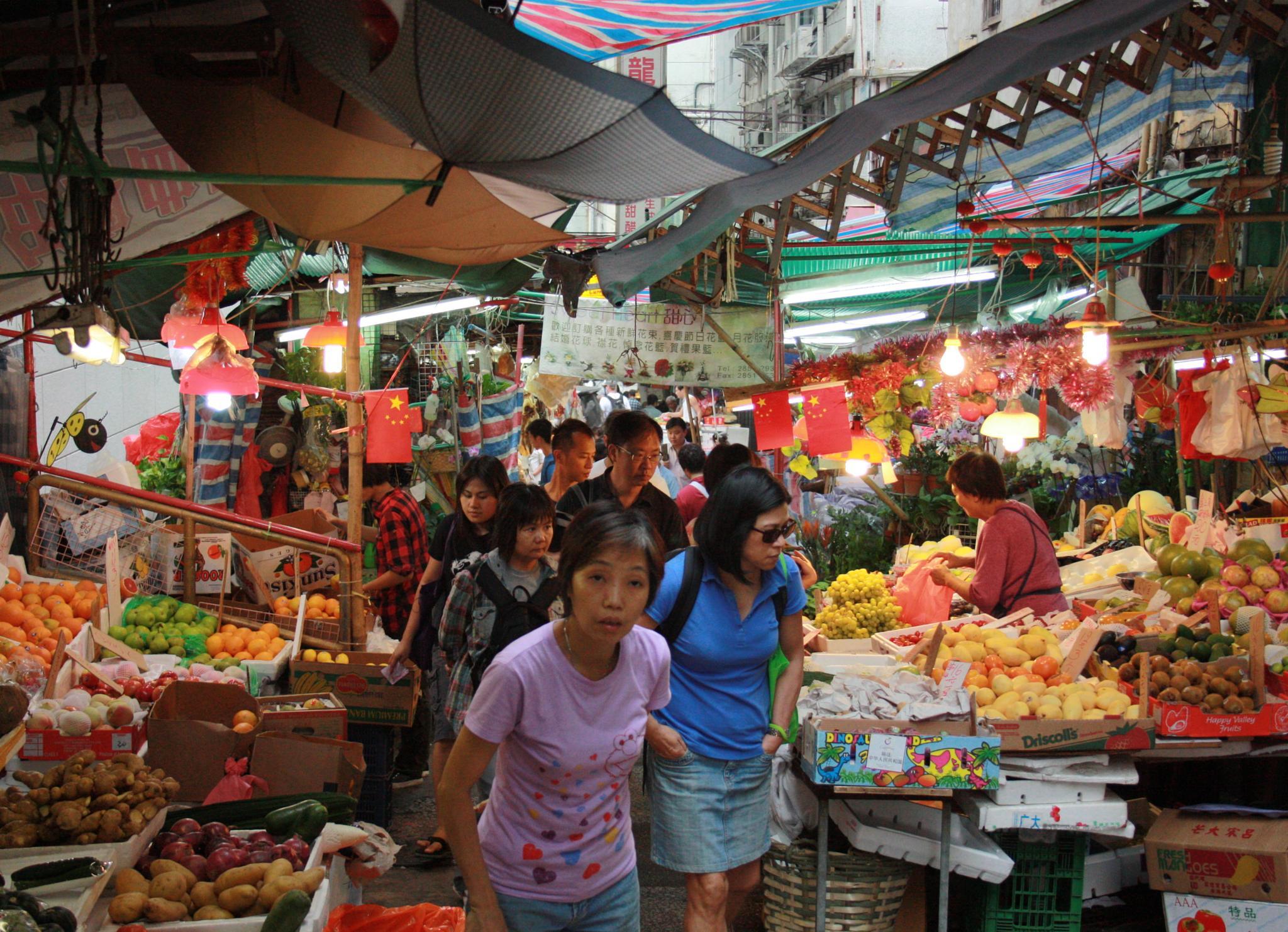 Colourful Hong Kong Market by Slimboyfat