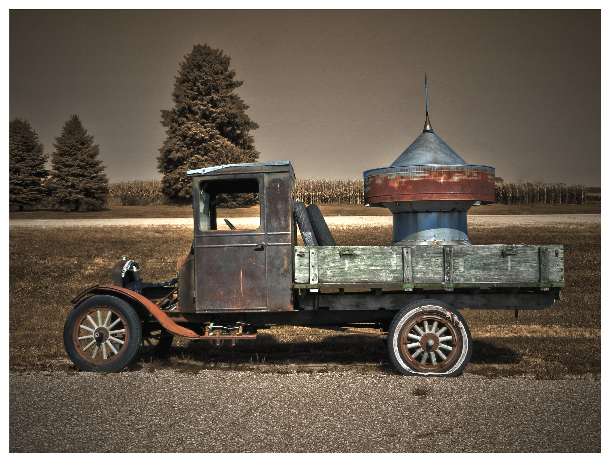 Old Minnesota Farmer's Truck by Linda Persson