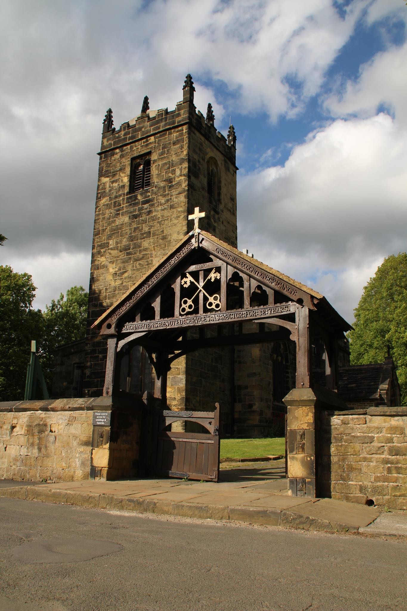 Tankersley church and Lych gate by alijhawkins