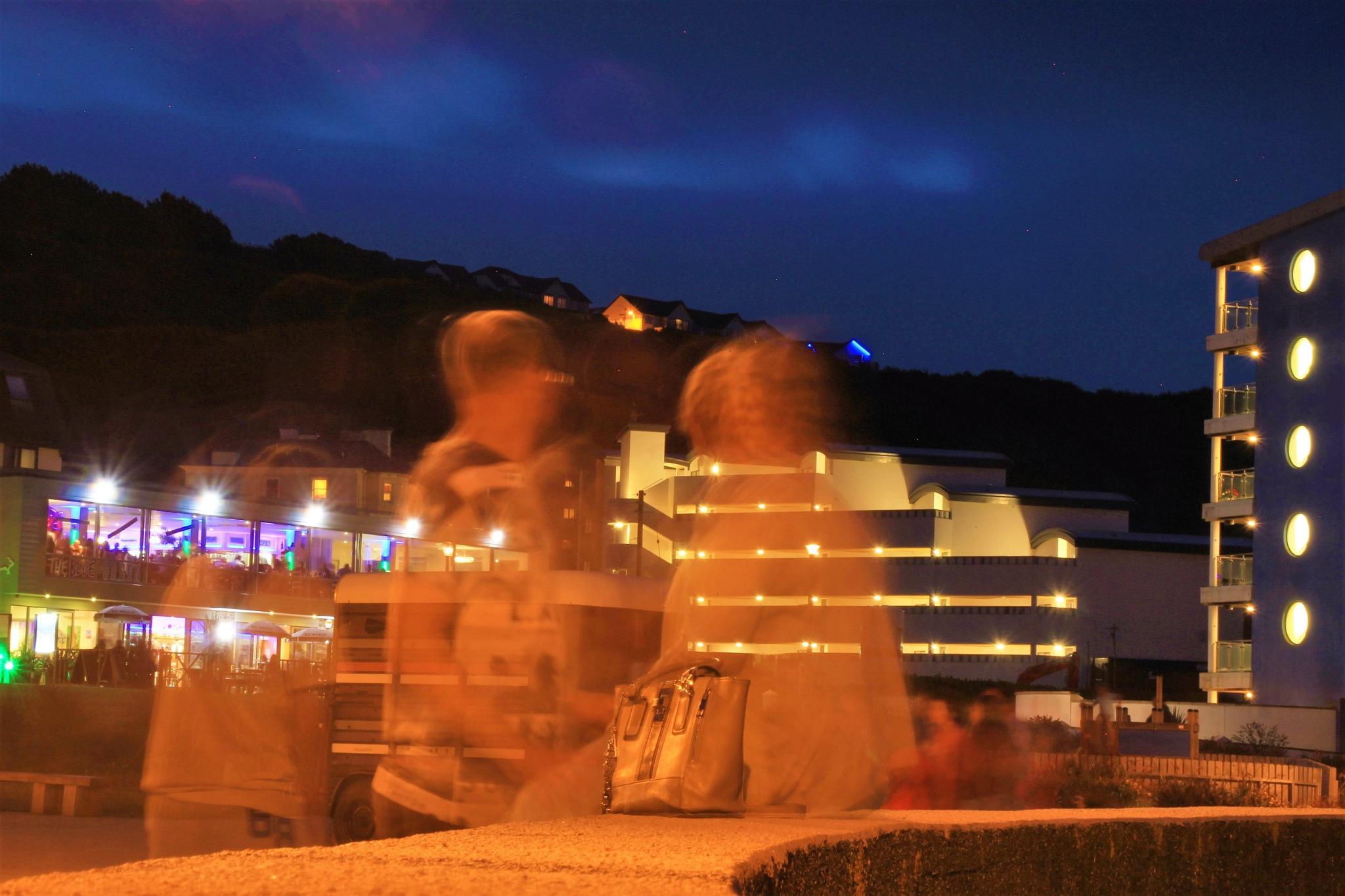Ghosts night out, Westward Ho! by alijhawkins