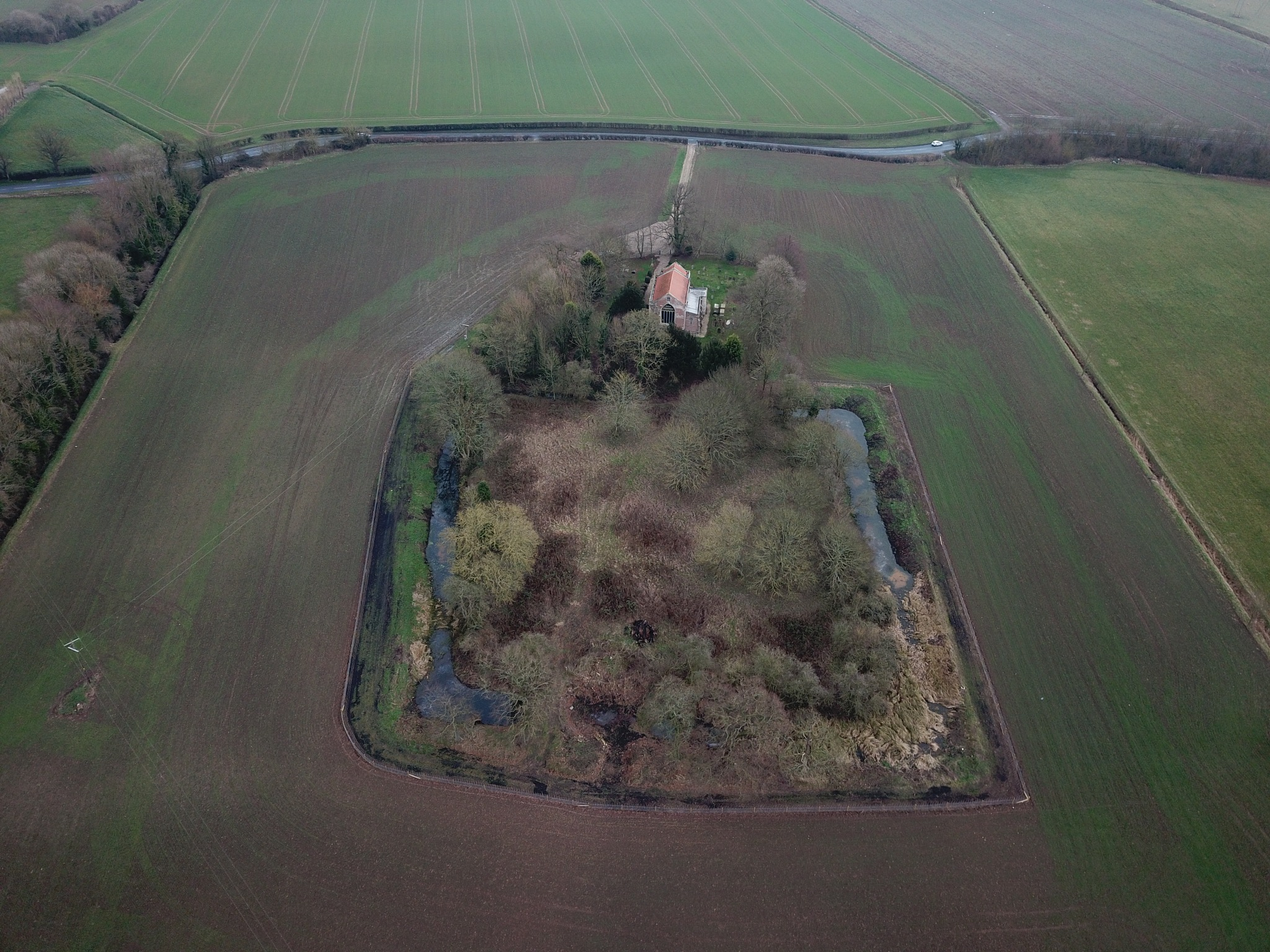 Winestead church and moated site by alijhawkins