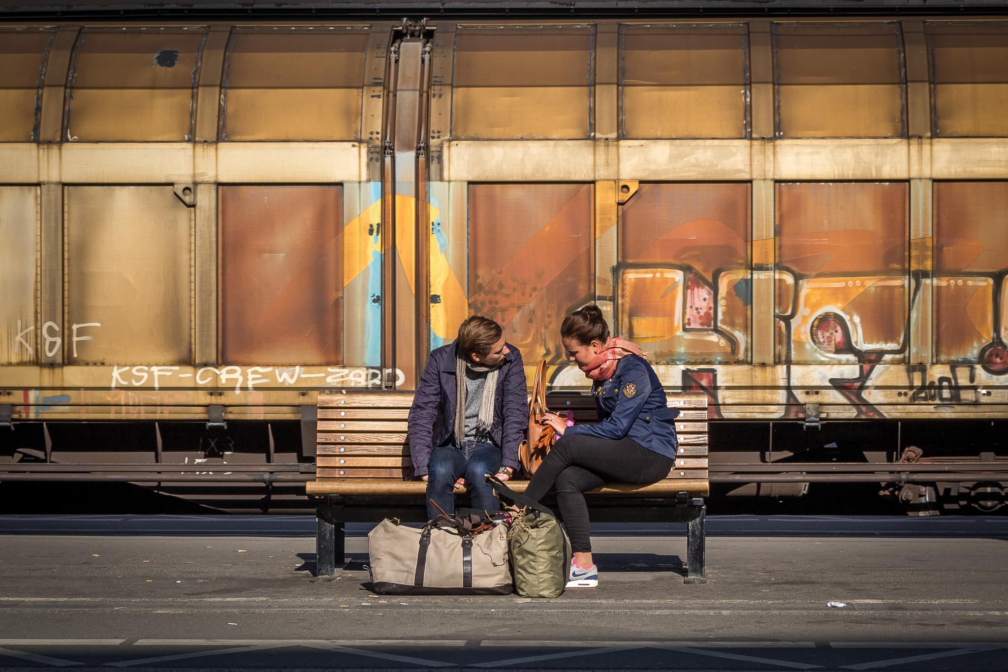 Waiting for the train. by Magnus Bengtsson