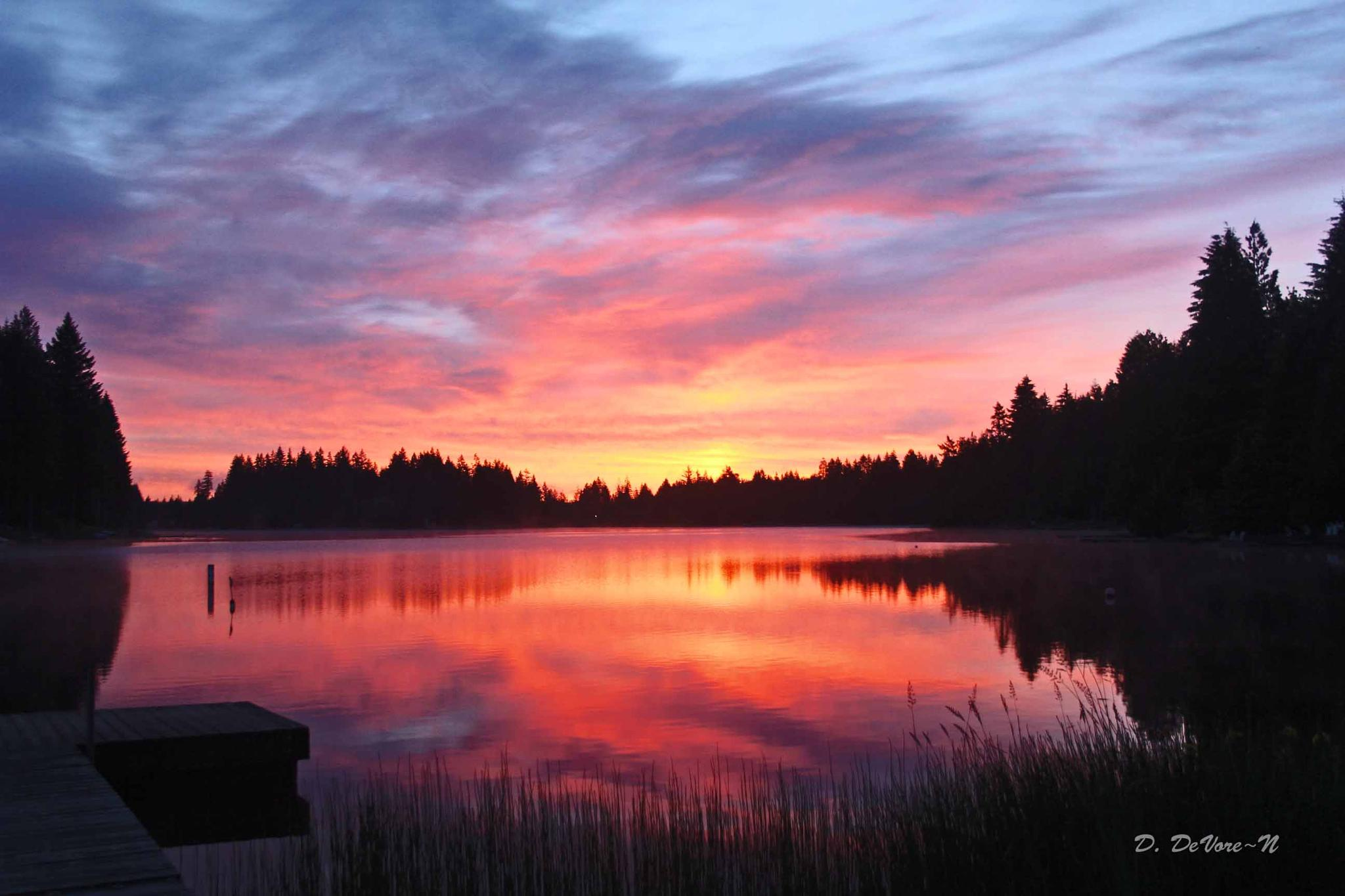 "Dawn on ""Big Timber"" by debra.devorenelson"
