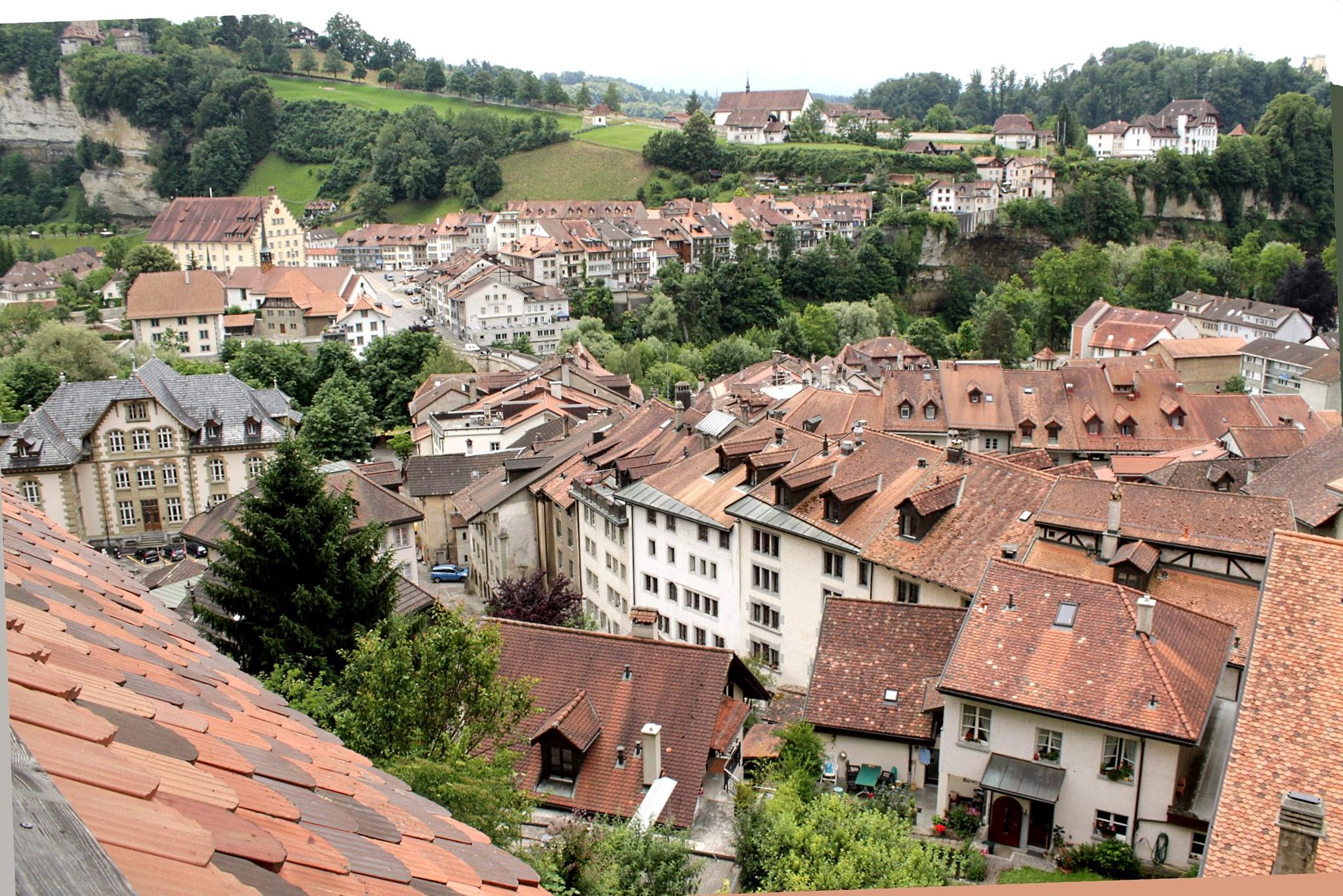 Lower Town of Fribourg, Switzerland by Andre RAMSEYER