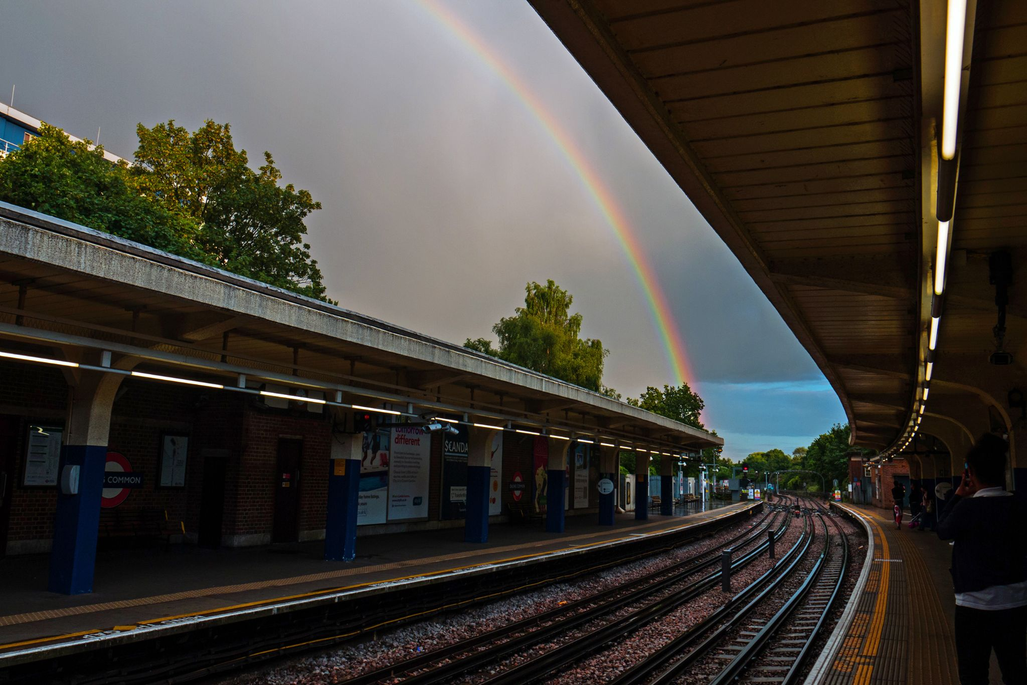 Rainbow while waiting for the tube by sofiadilauro