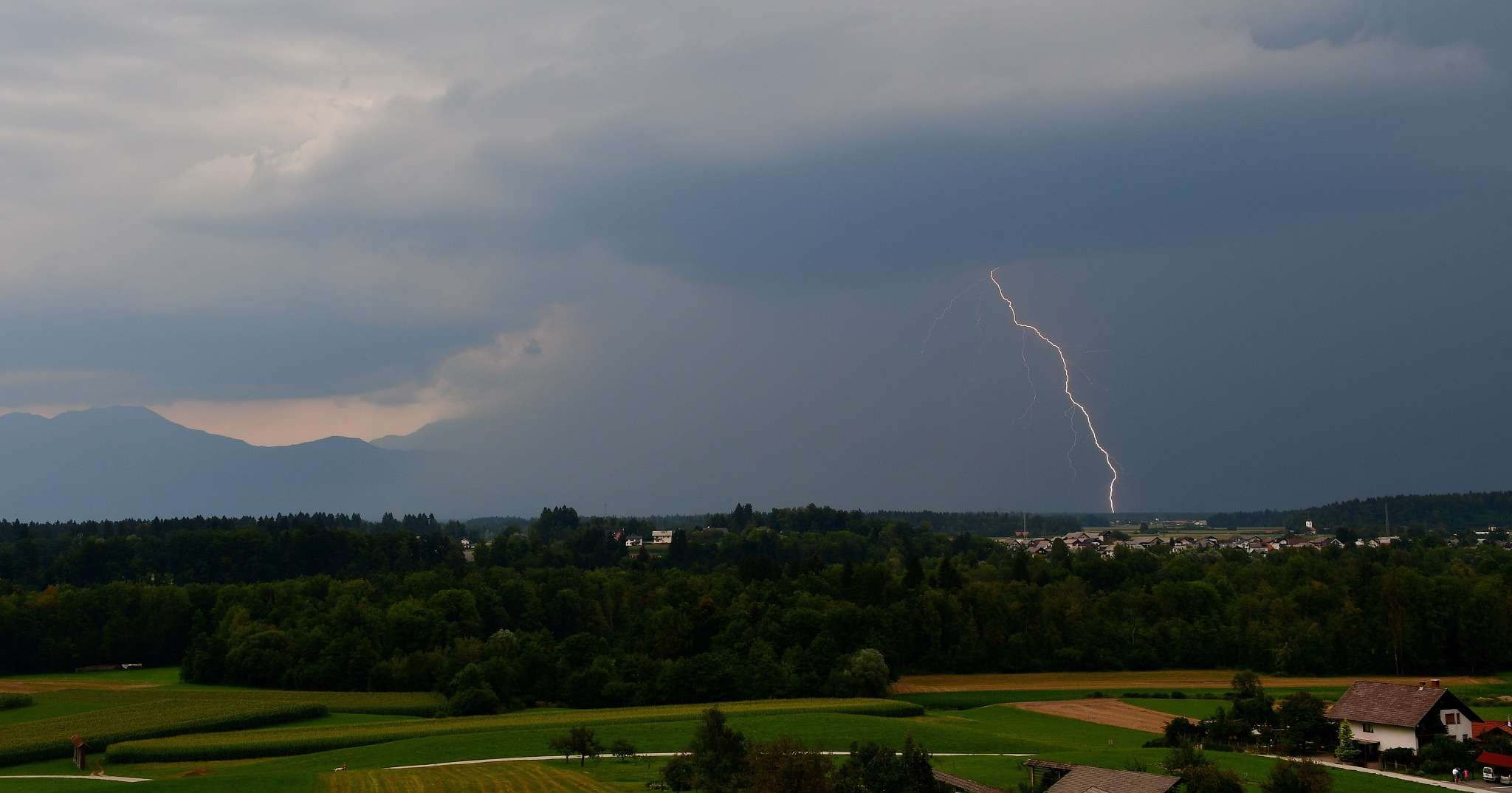 Afternoon lightning by Egon Cokan