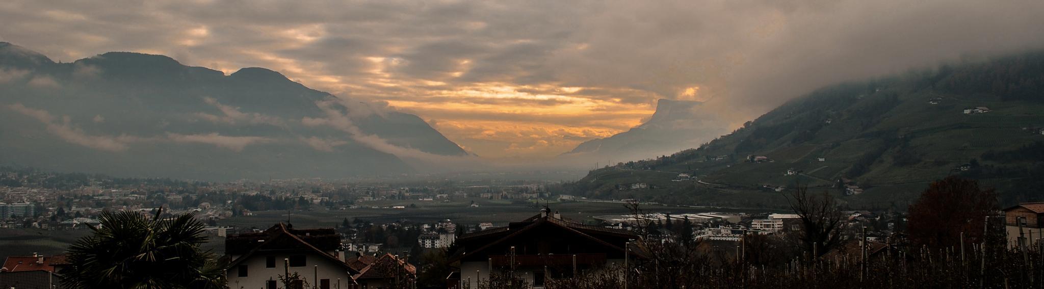 Tramonto in Trentino - Sunset in Trentino by Mauro Gigli