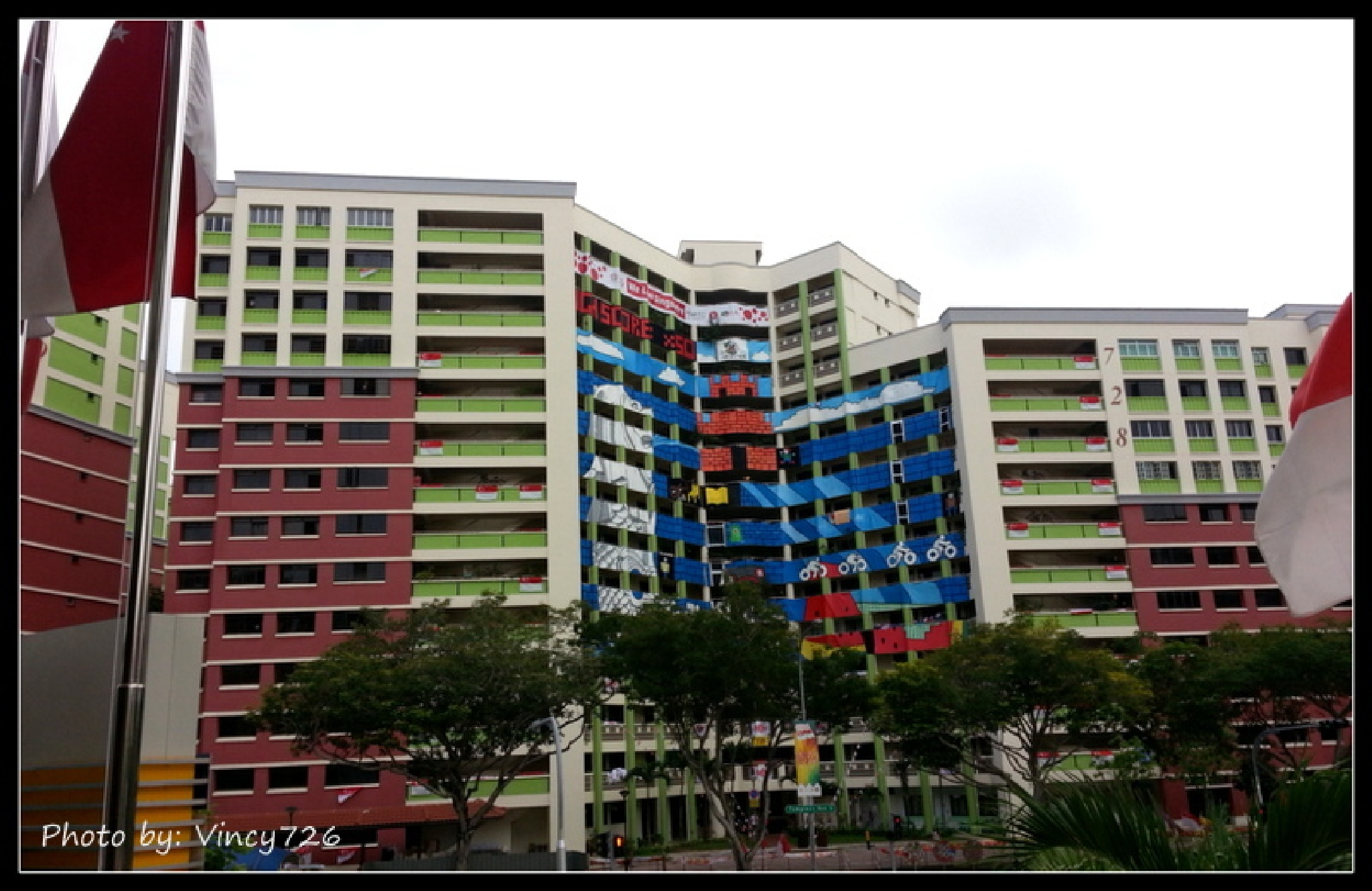 A typical public apartment block in Singapore. by vincy726