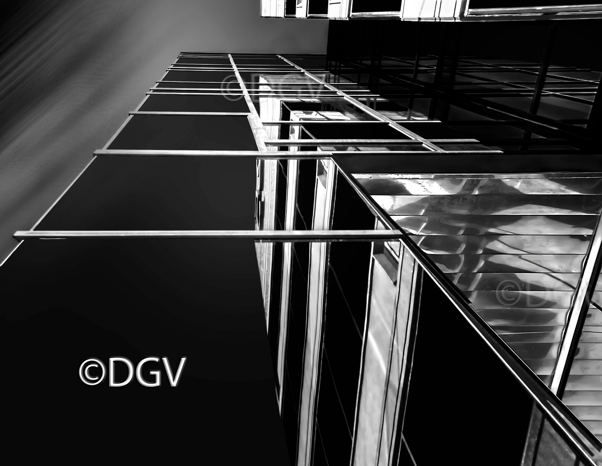 Glass office tower & reflection by dgvarch