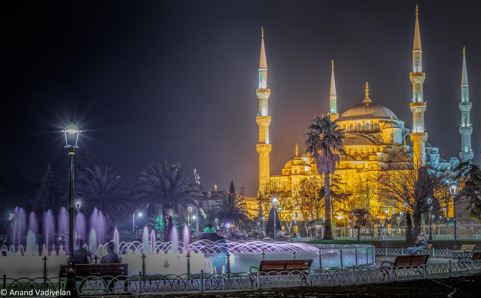 Night at the Blue Mosque by anandavadivelan