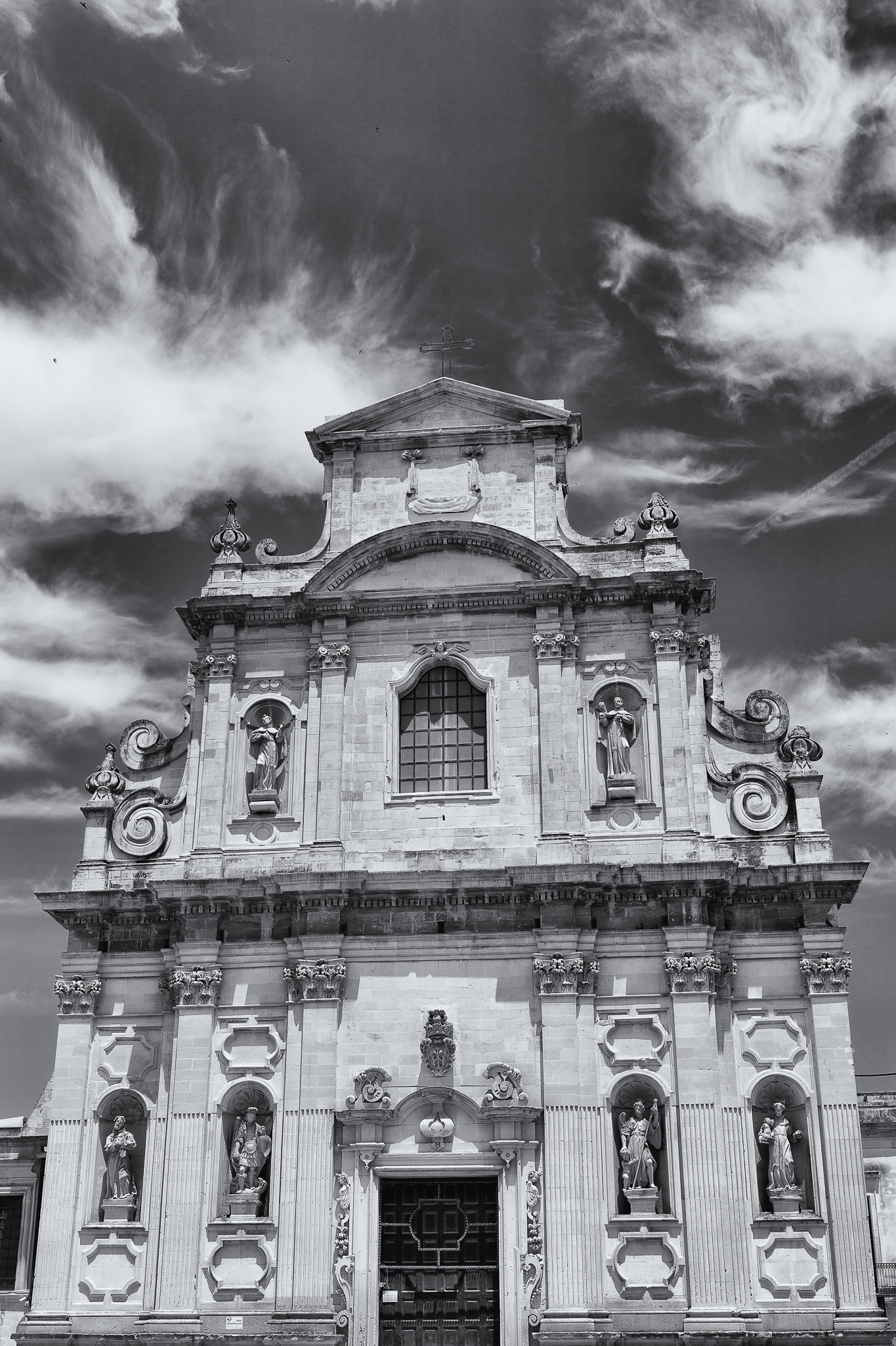Clouds & Barocco Cathedral by paolo cancelliere