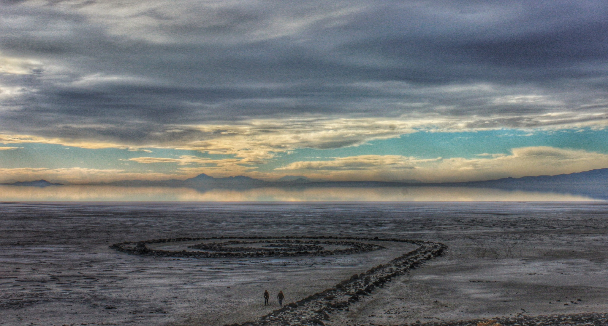 Visitors to the Spiral Jetty by shaunarwhitaker
