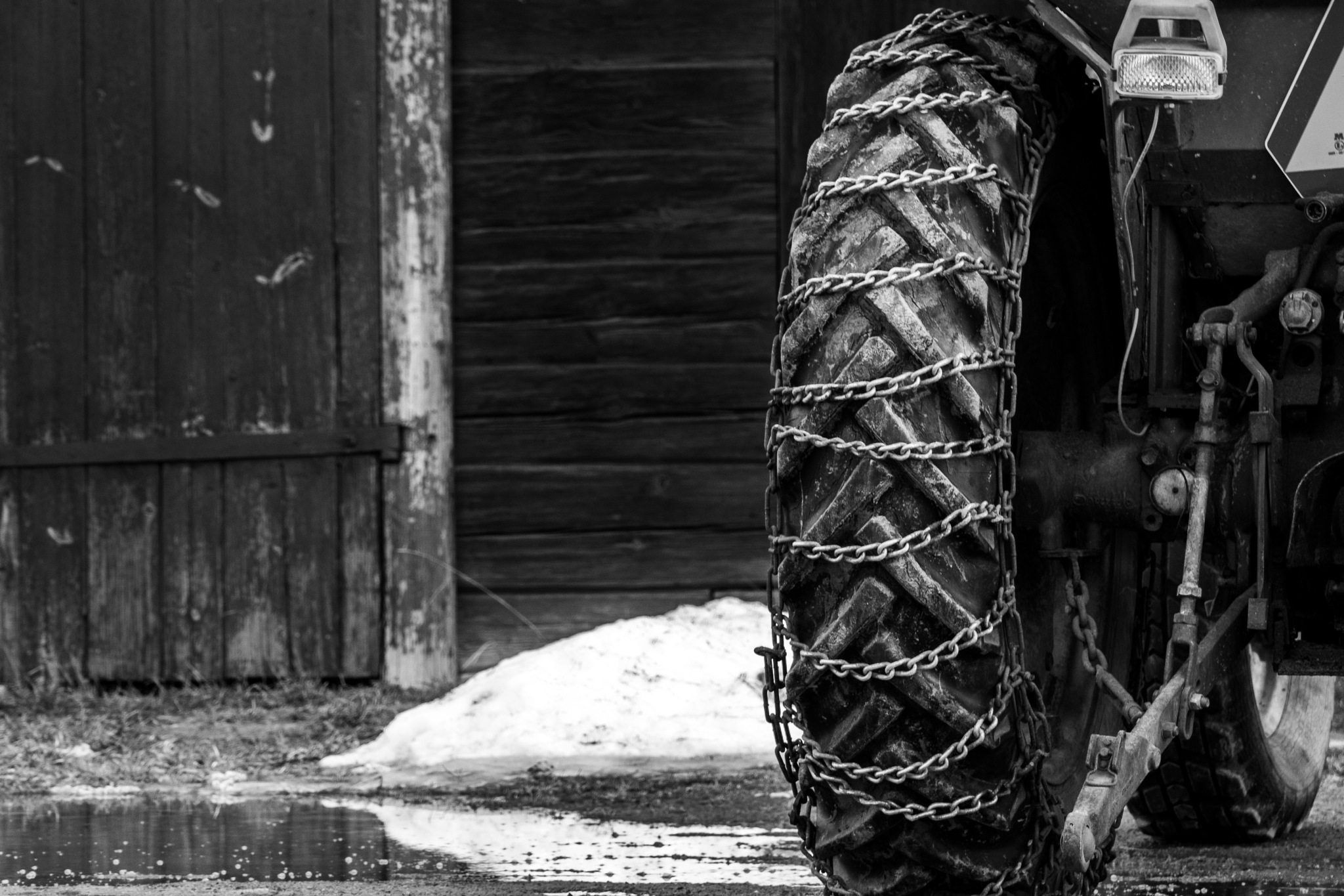 Photo in Black and White #wheel #b&w #tractor