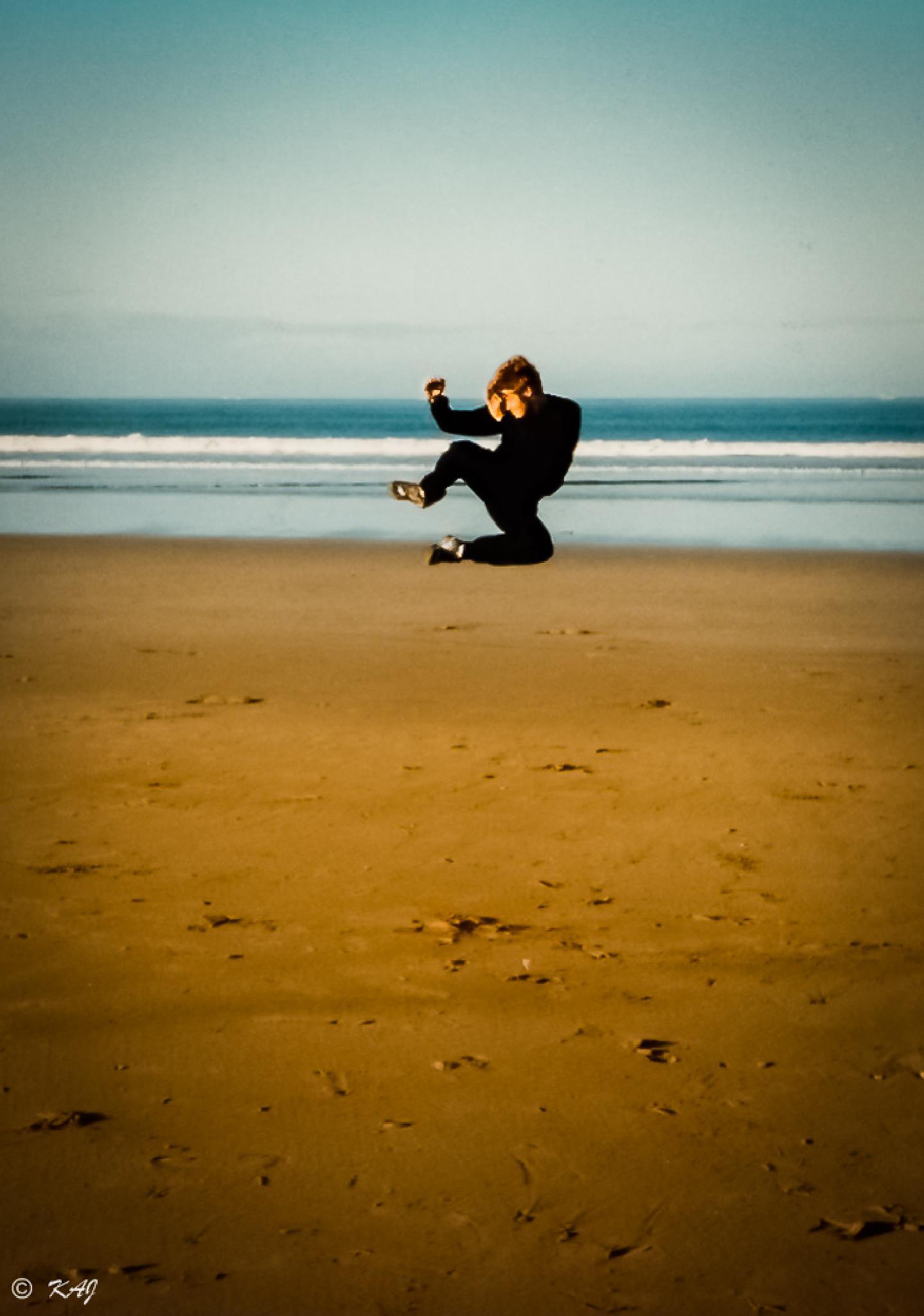 Tae Kwon Do on the beach. by kaj.jorgensen.