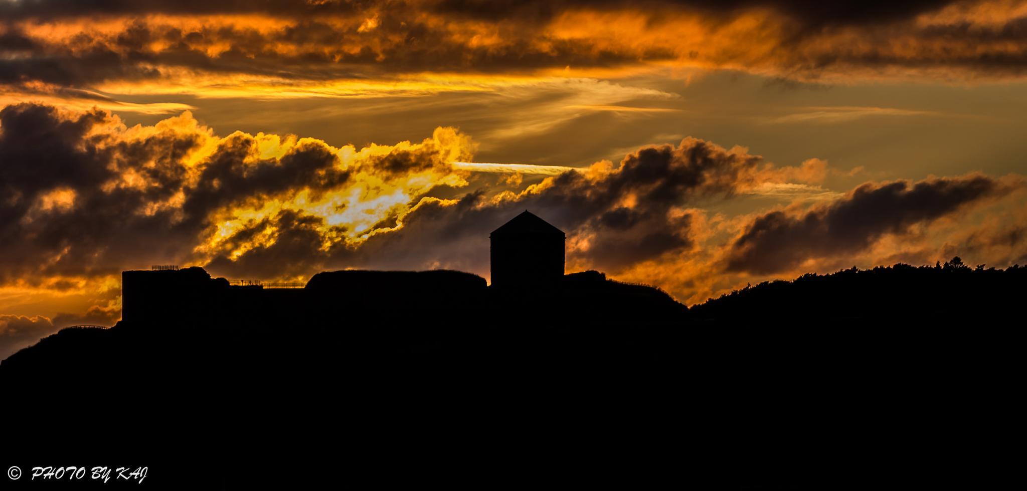 Bohus fortress at evening by kaj.jorgensen.