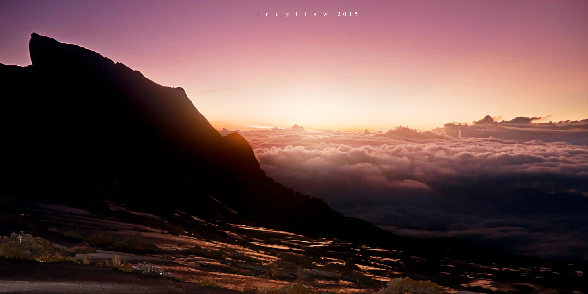 Dawn at Mount Kinabalu by lucyliew