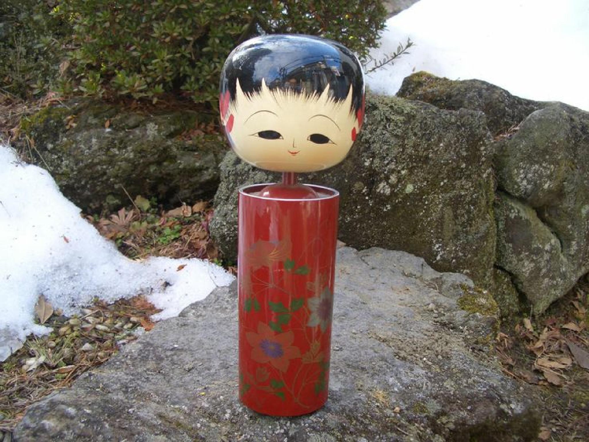 Japanese kokeshi doll by Hiroshi Fukushima