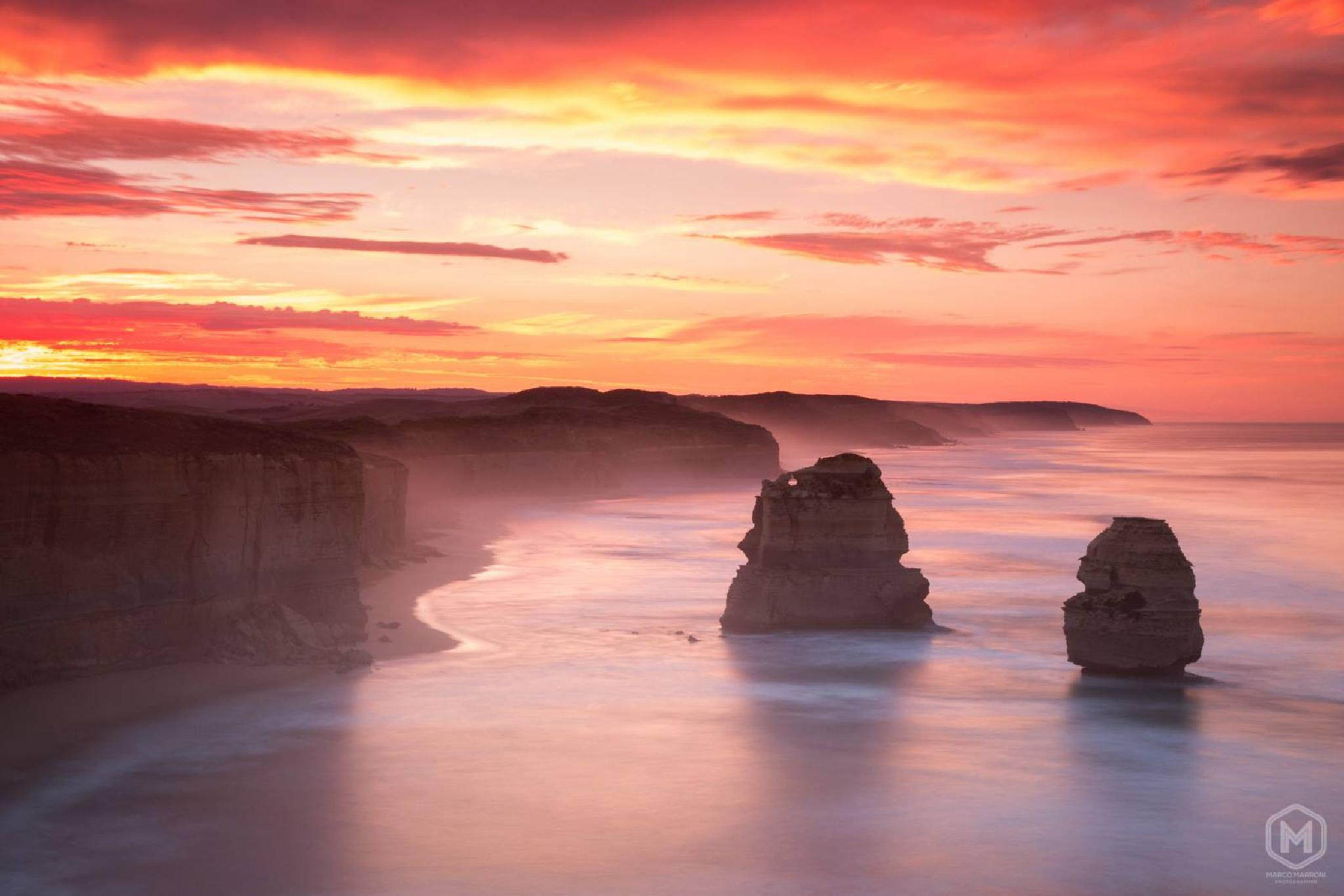 Sunrise at 12 Apostles by MarroniPhoto