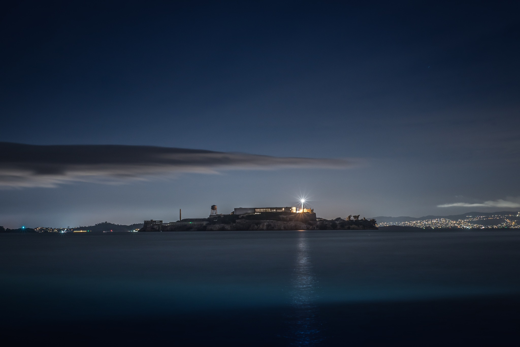 Alcatraz at Night by Kevin Drew Davis
