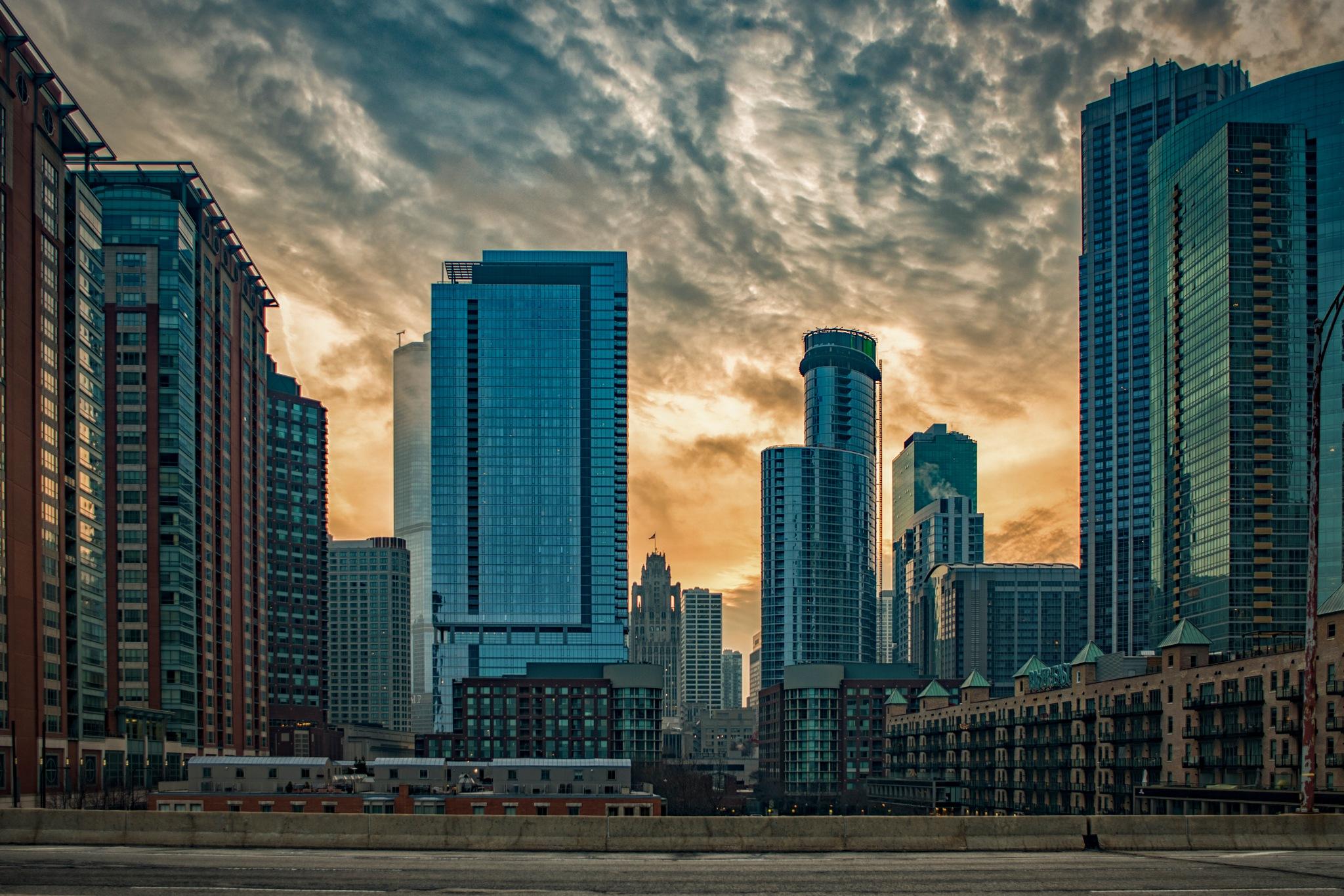 Chicago Sunset by Kevin Drew Davis