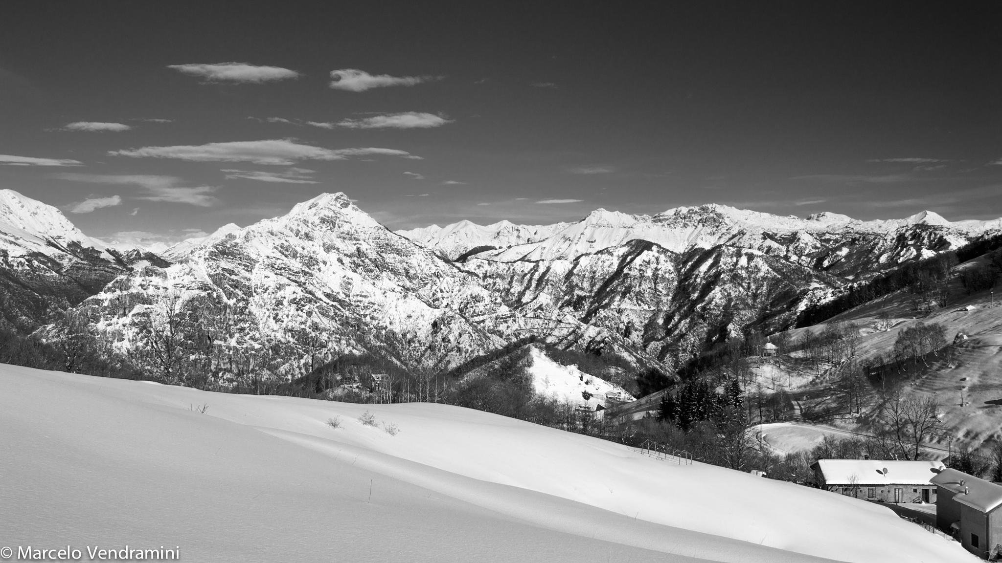 Mountain in Black and (Snow) White by Marcelo Vendramini