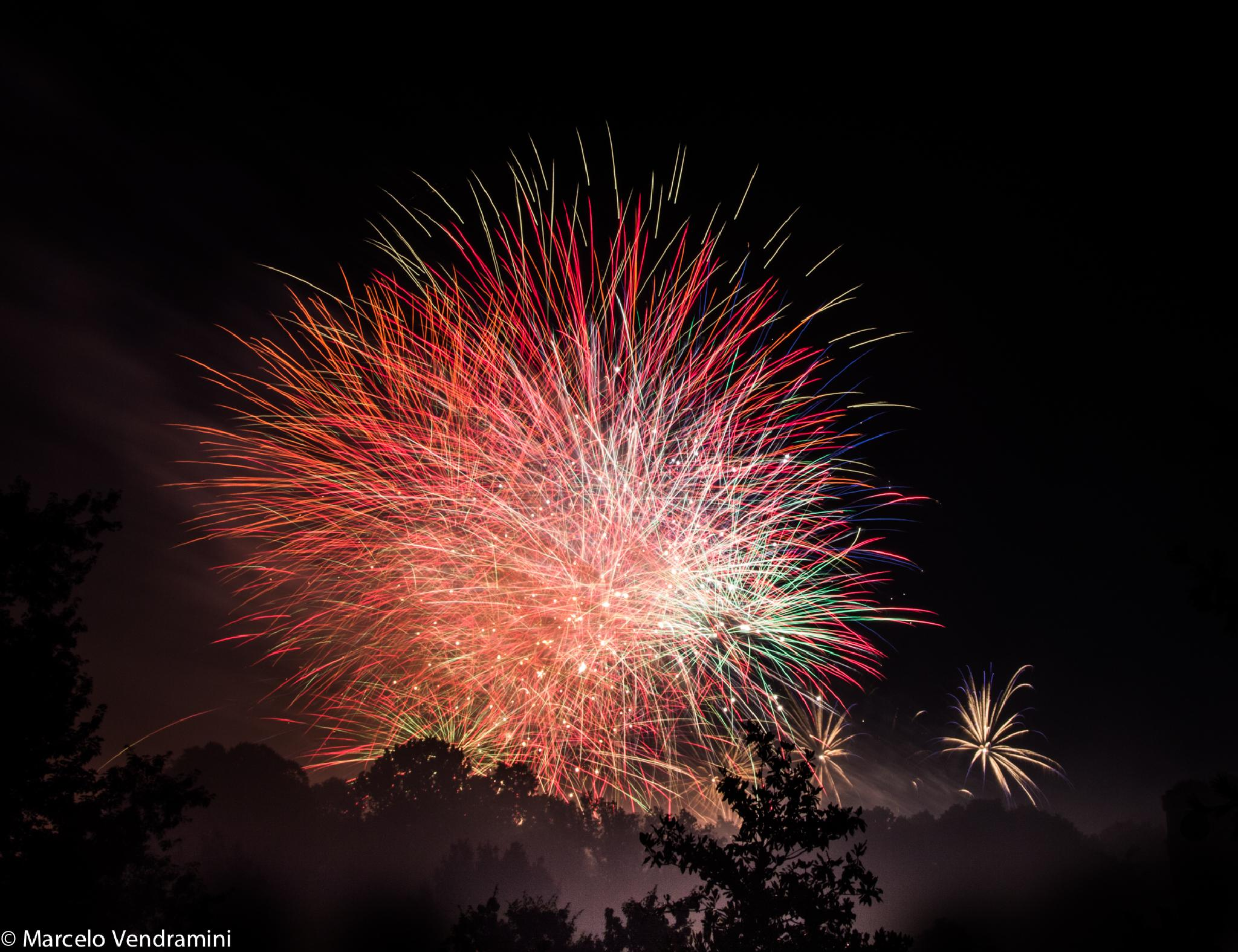 Fireworks San Giovanni in Monza, Italy by Marcelo Vendramini