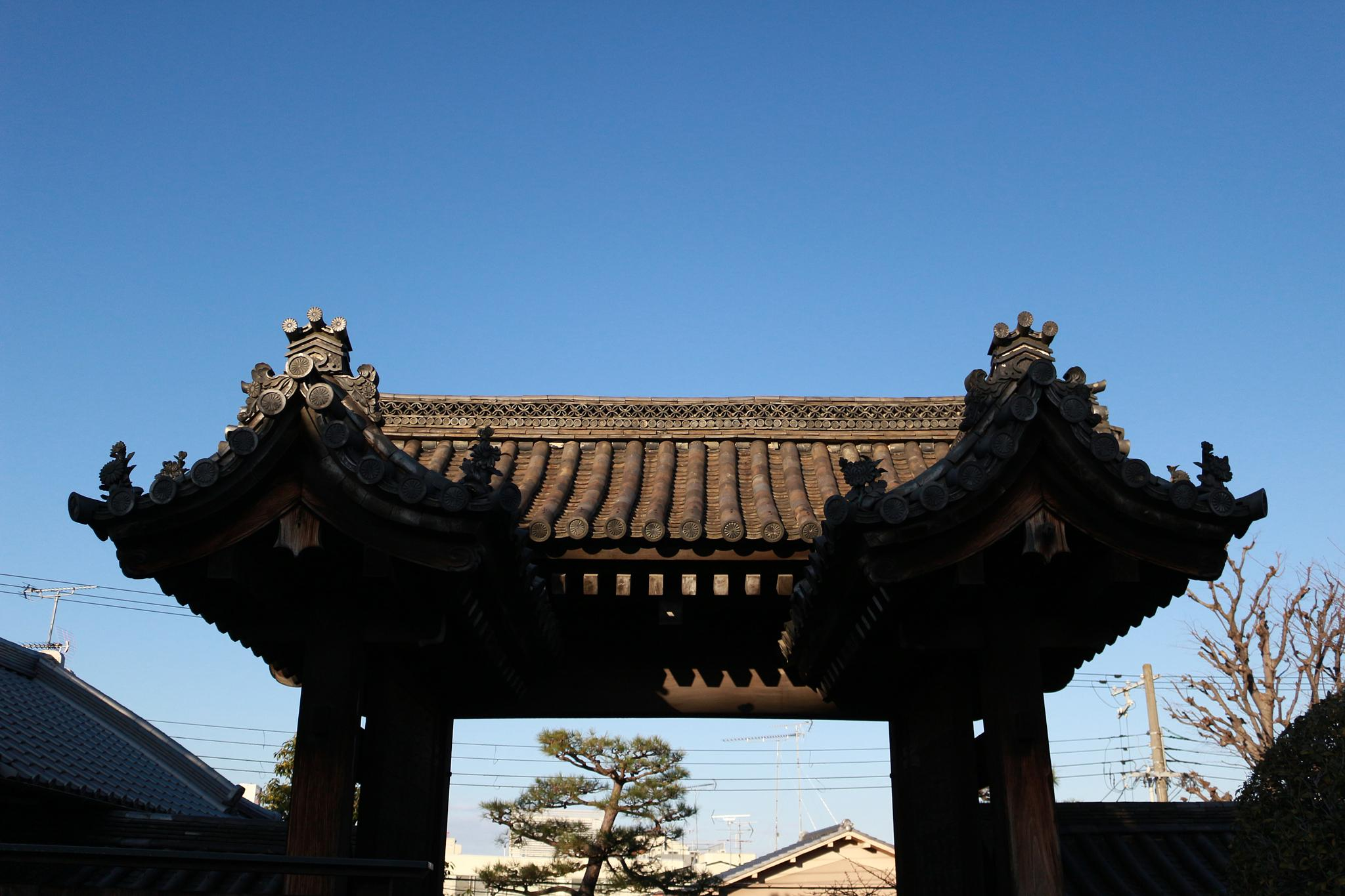 - Temple Entrance Rooftop - by GuillaumeTanneux