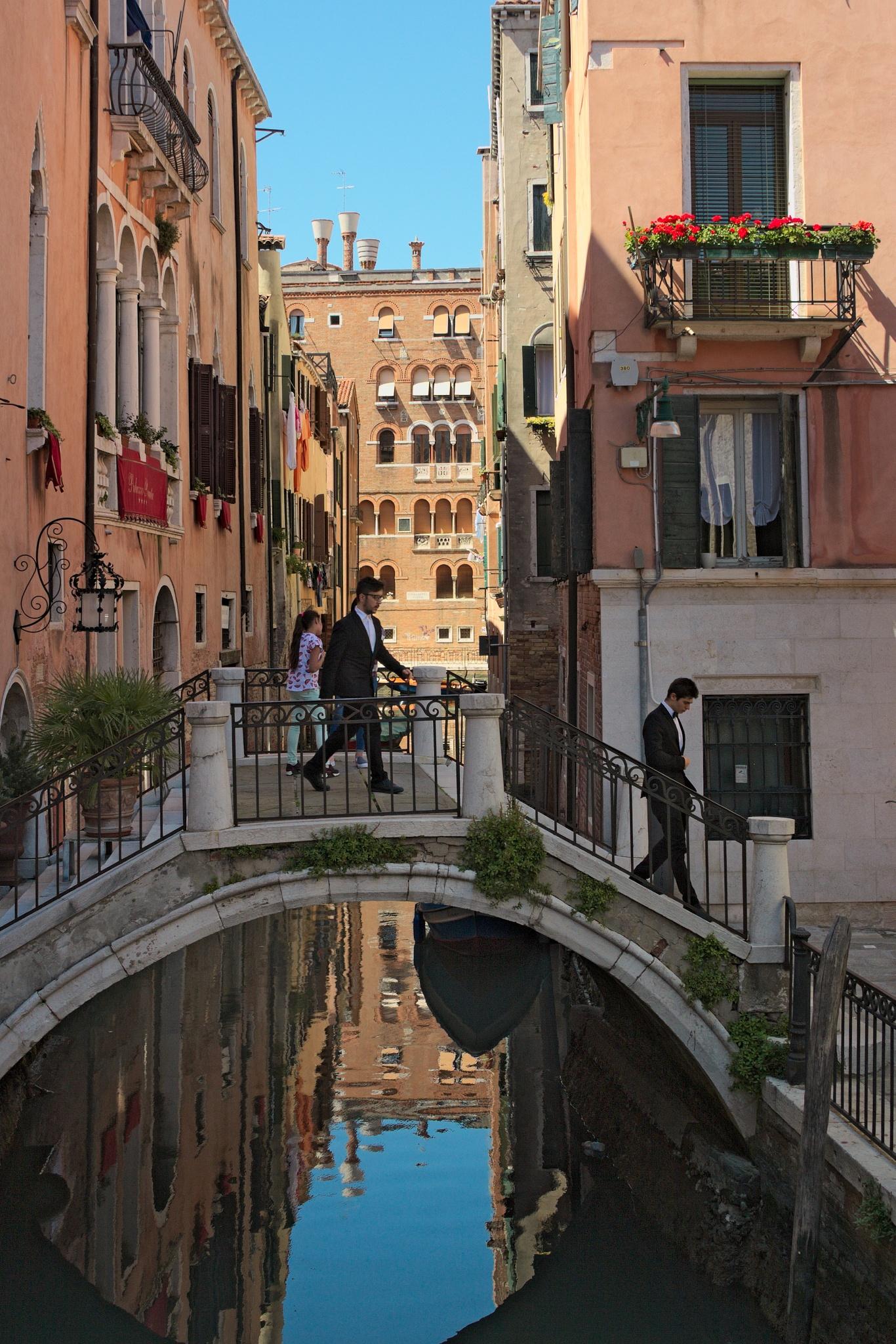 A tiny bridge somewhere in Venice #1 by Alex Zalesny