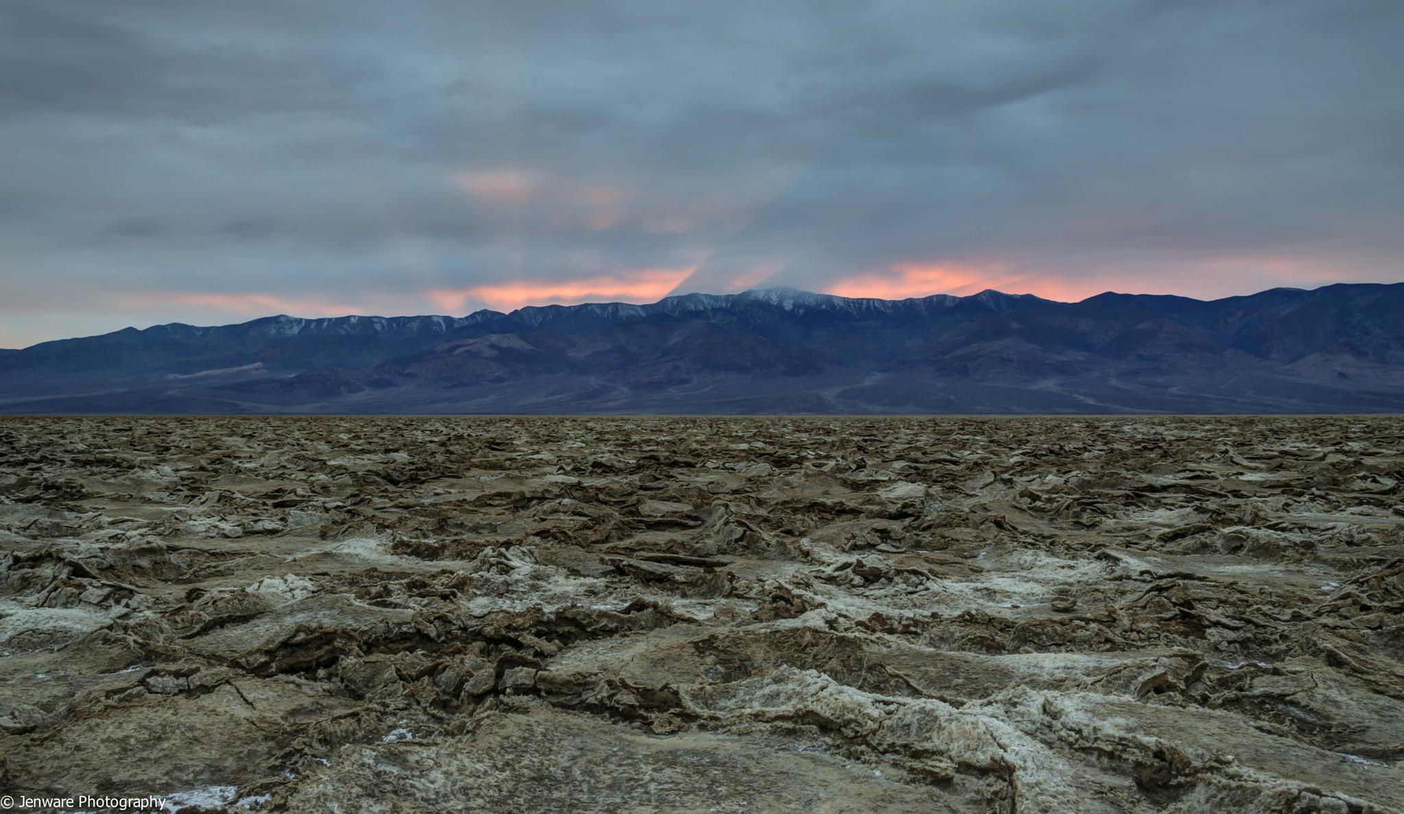 Death Valley Sunset by Jenware Photography
