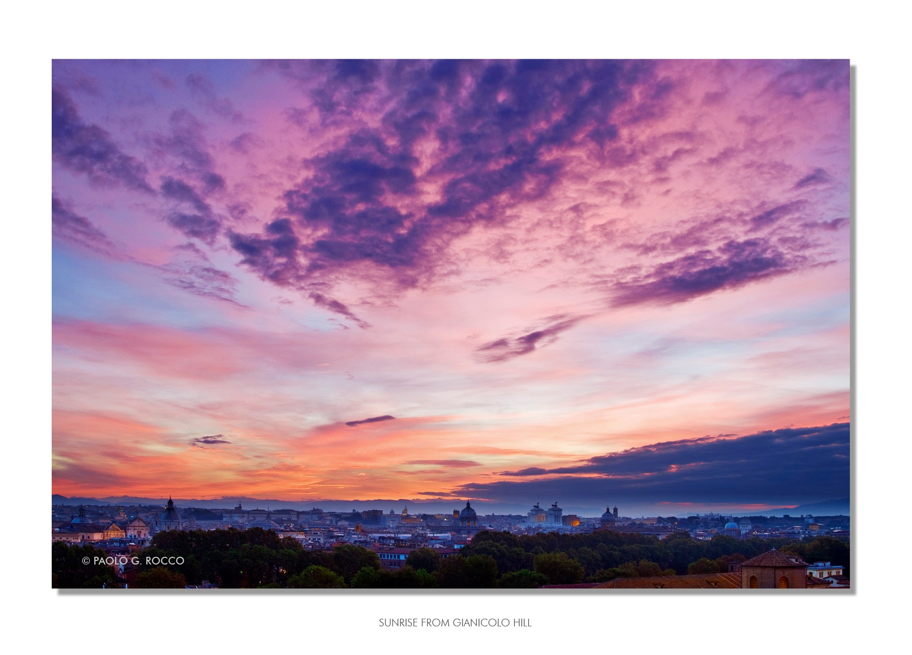 Sunrise over Rome by paologaetano